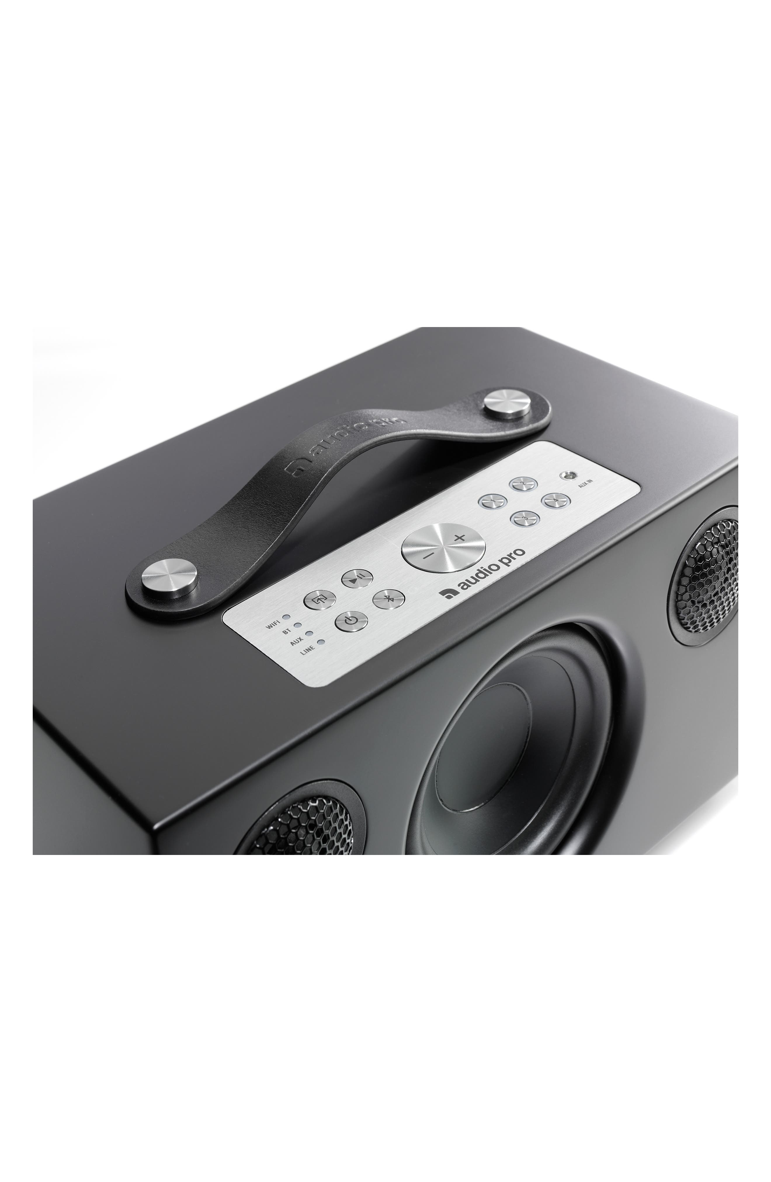 Addon C5 Wi-Fi Multi Room Bluetooth<sup>®</sup> Speaker,                             Alternate thumbnail 4, color,                             COAL BLACK