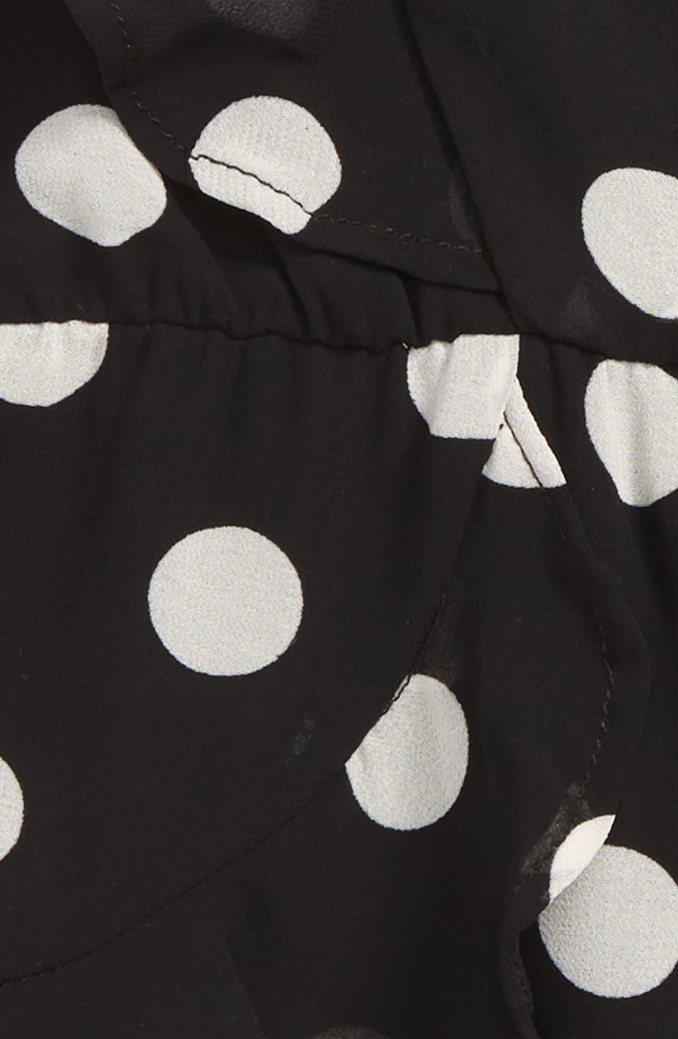 Kiera Spot Dress,                             Alternate thumbnail 2, color,                             001