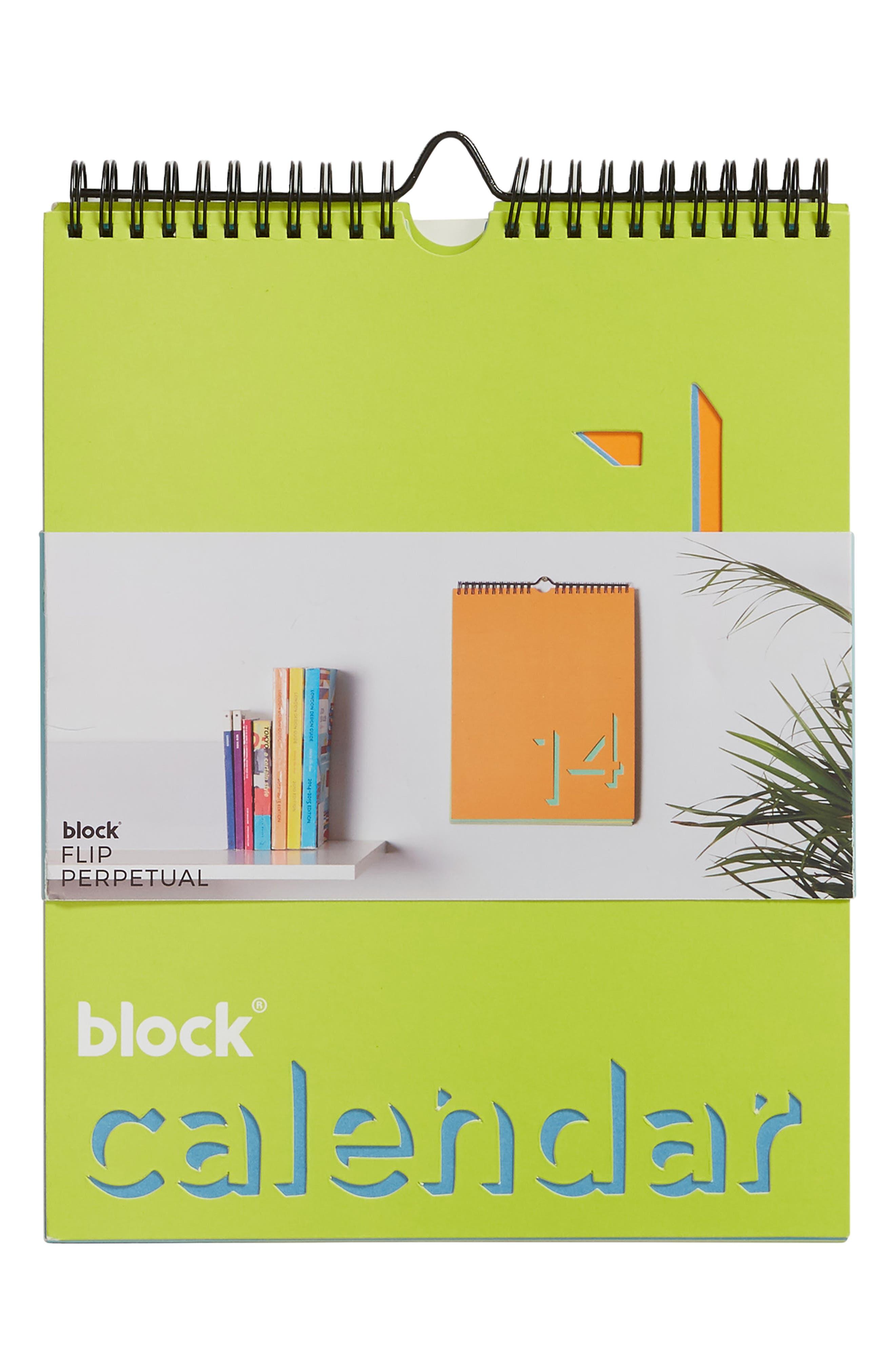 Flip Perpetual Calendar,                         Main,                         color, MULTI