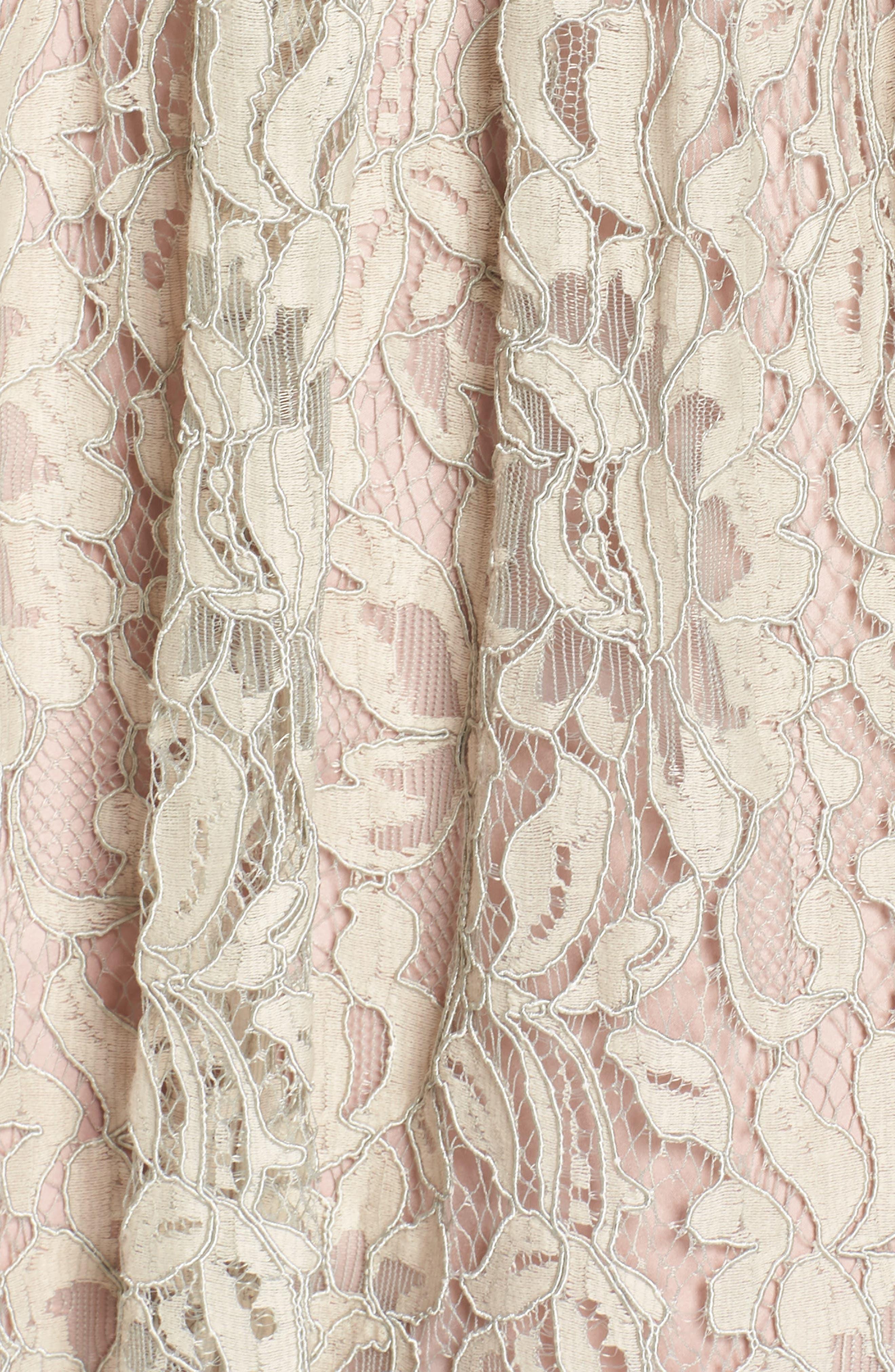 Lace Fit & Flare Dress,                             Alternate thumbnail 6, color,                             900