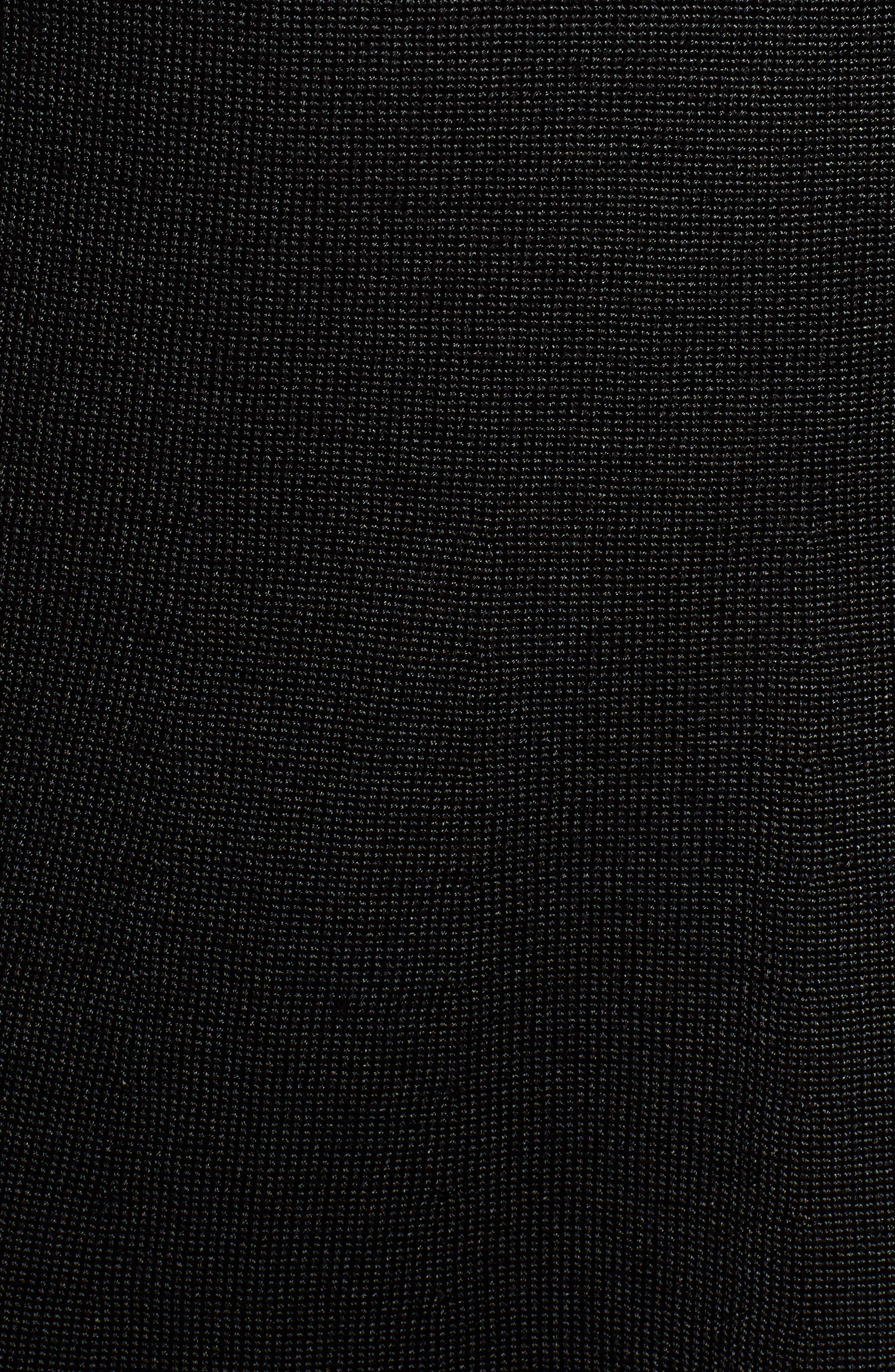 Fil Coupé Mixed Media Dress,                             Alternate thumbnail 6, color,                             RICH BLACK