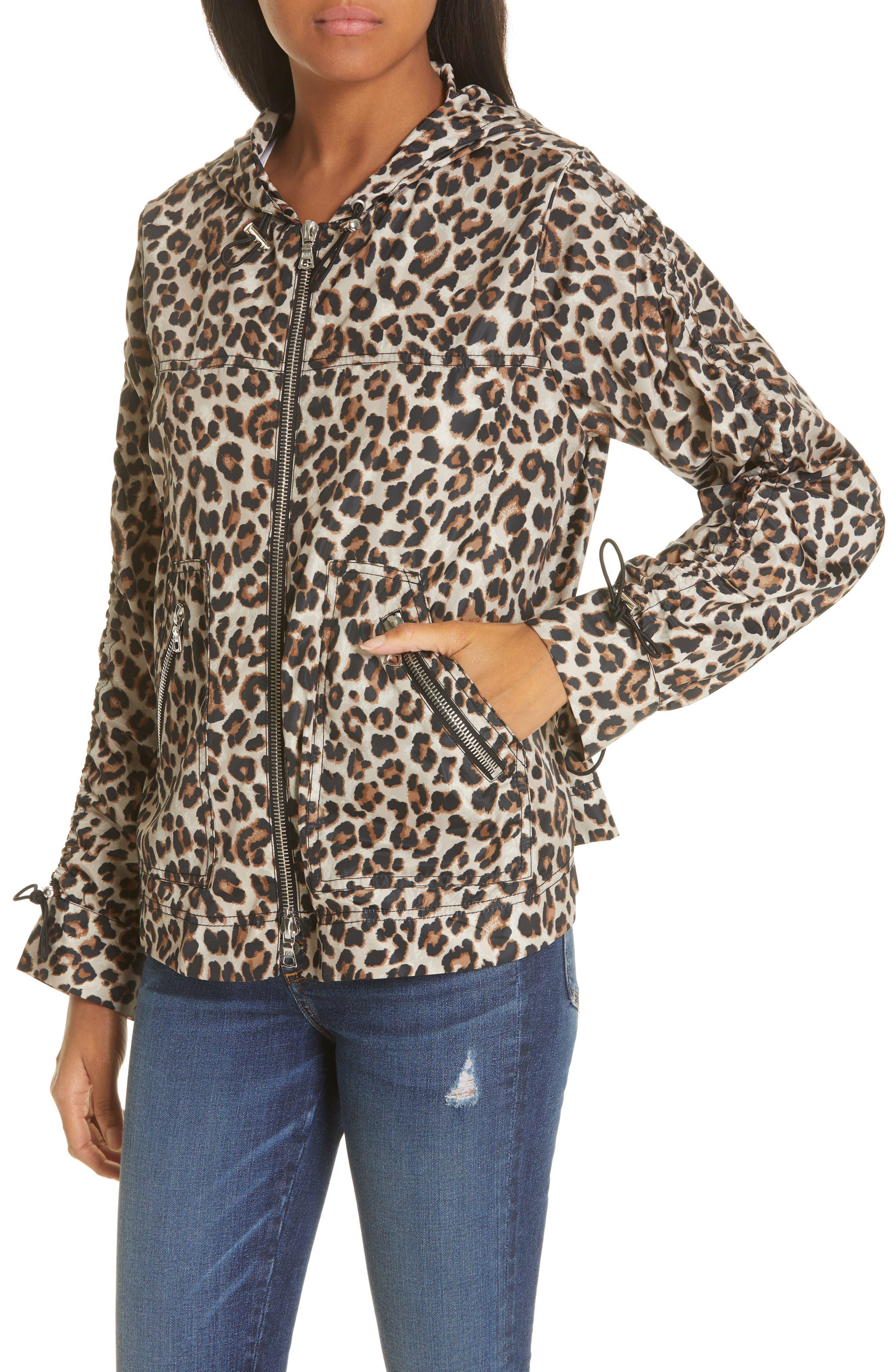 Sibila Leopard Print Jacket,                             Alternate thumbnail 4, color,                             200