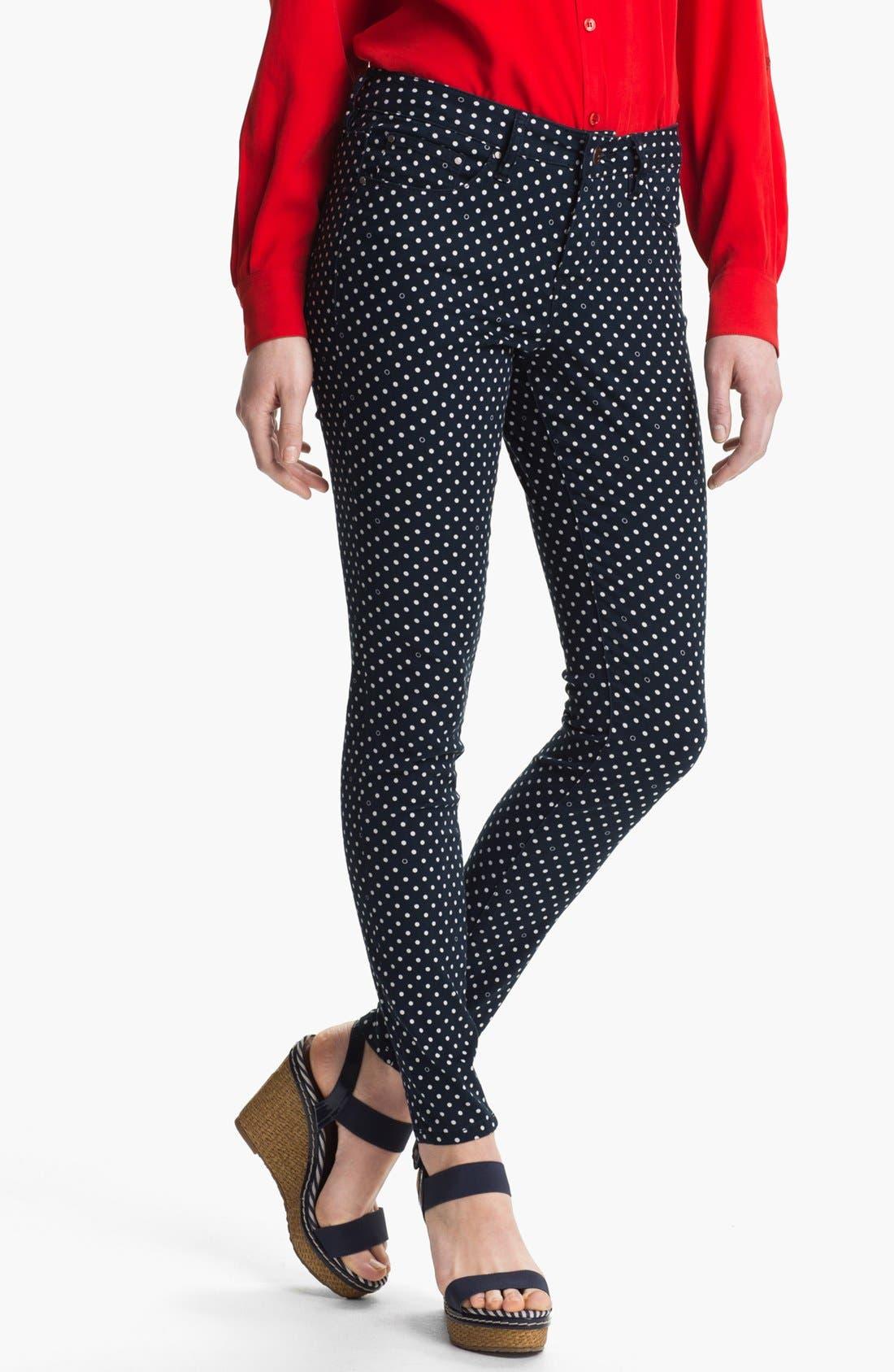 'Chloe' Skinny Twill Pants, Main, color, 400