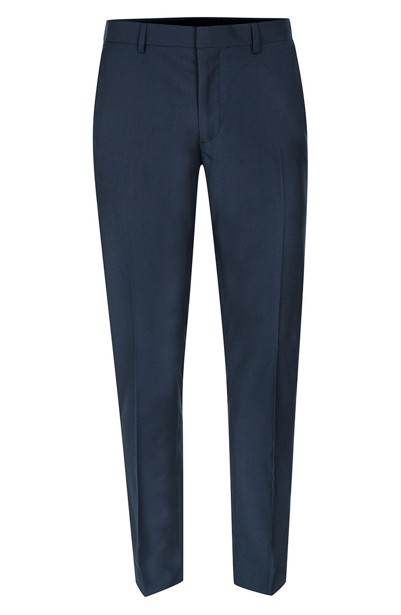 Skinny Fit Suit Trousers,                             Alternate thumbnail 4, color,                             420