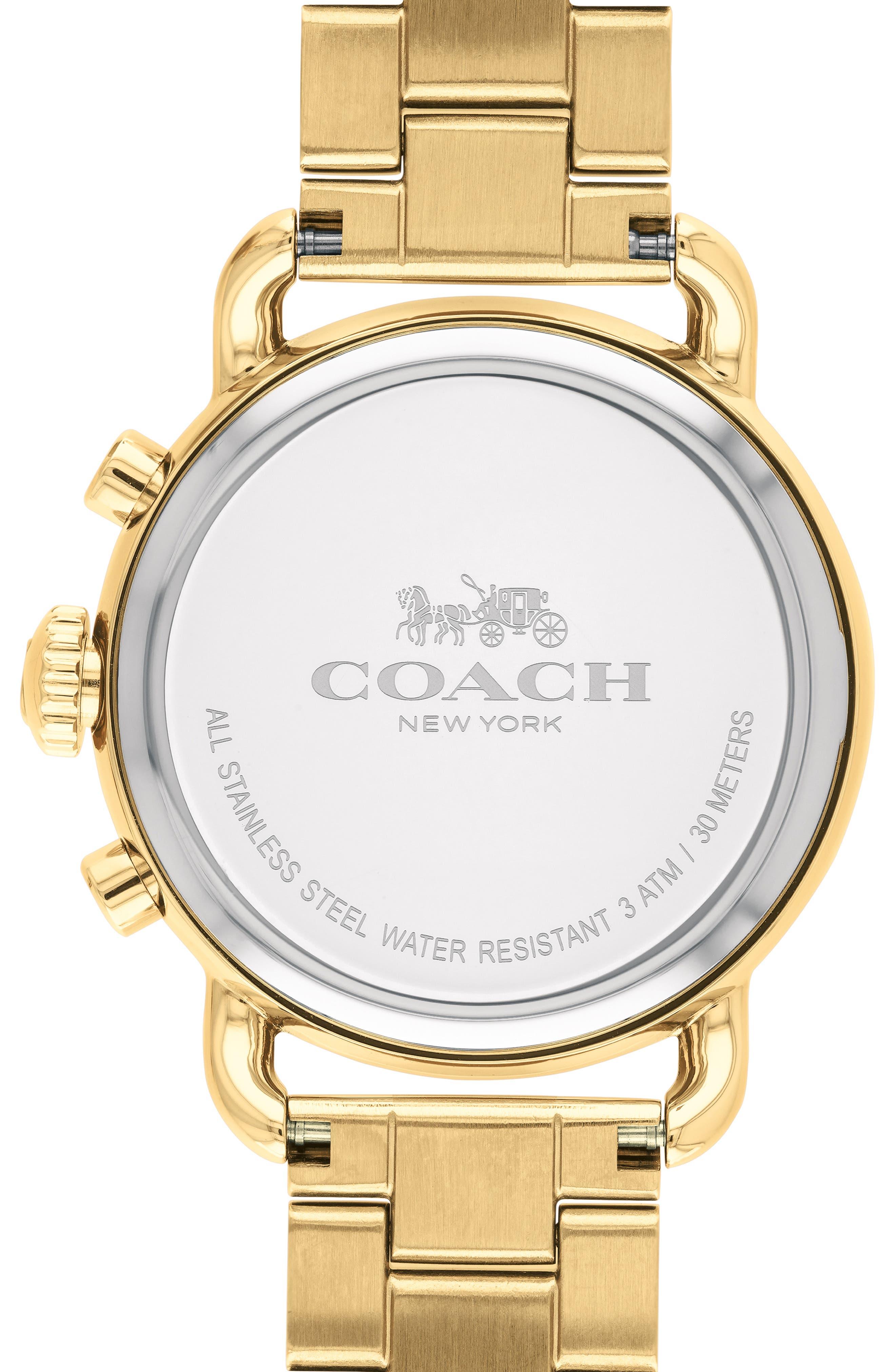 Delancey Chronograph Crystal Accent Bracelet Watch, 36mm,                             Alternate thumbnail 2, color,                             GOLD