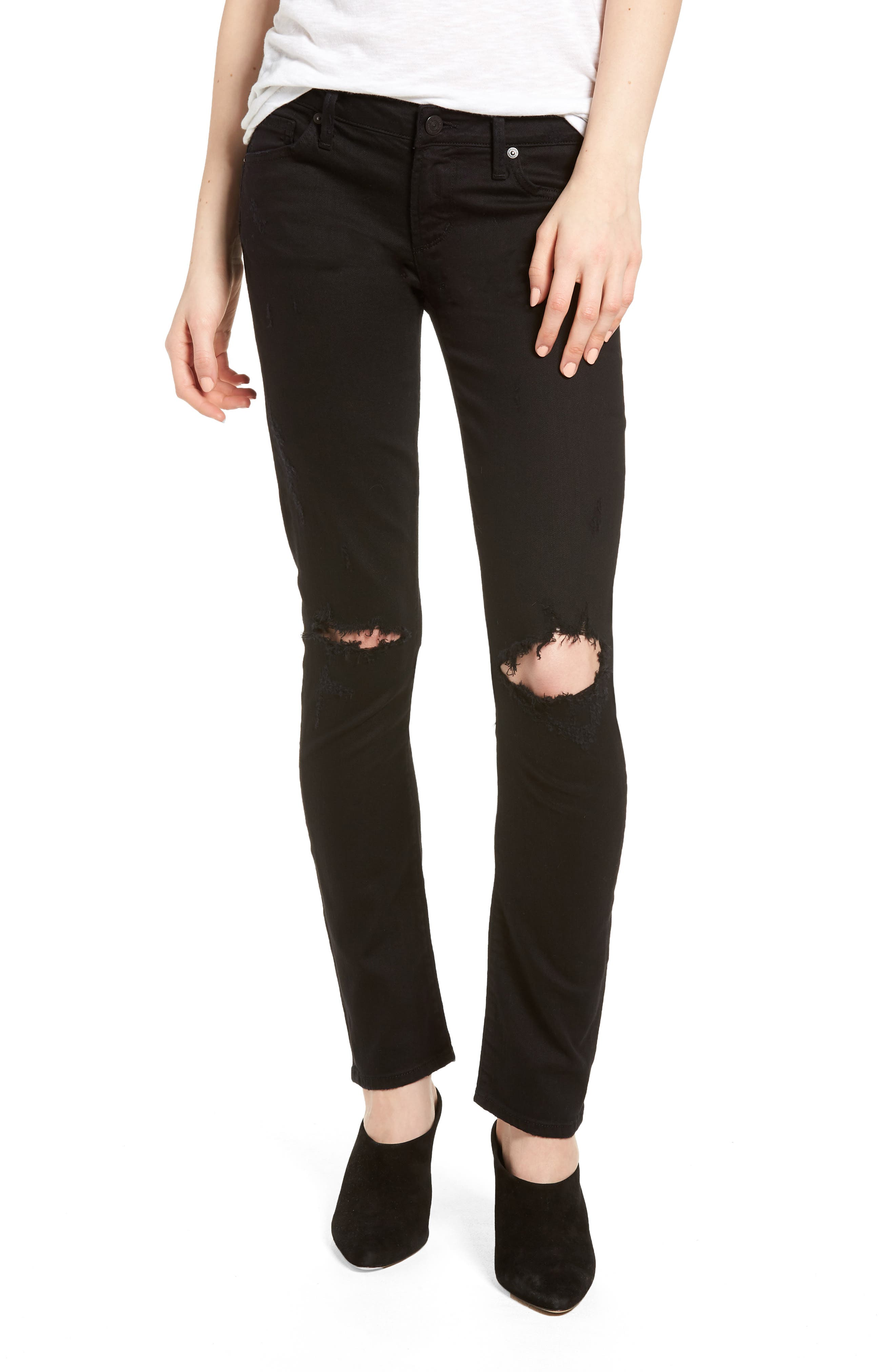 Racer Ripped Skinny Jeans,                             Main thumbnail 1, color,                             410