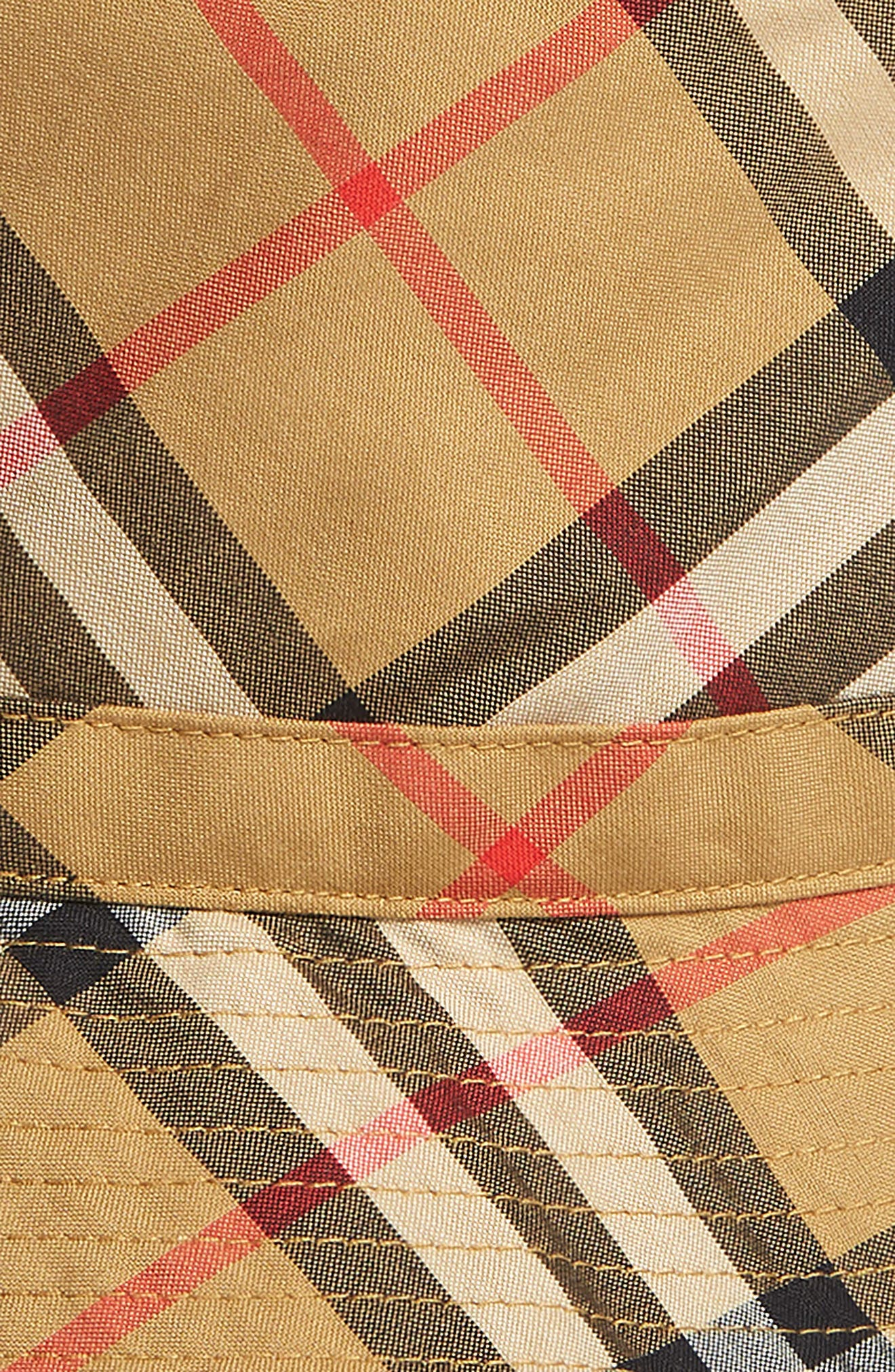 BURBERRY,                             Chandy Check Bucket Hat,                             Alternate thumbnail 2, color,                             701