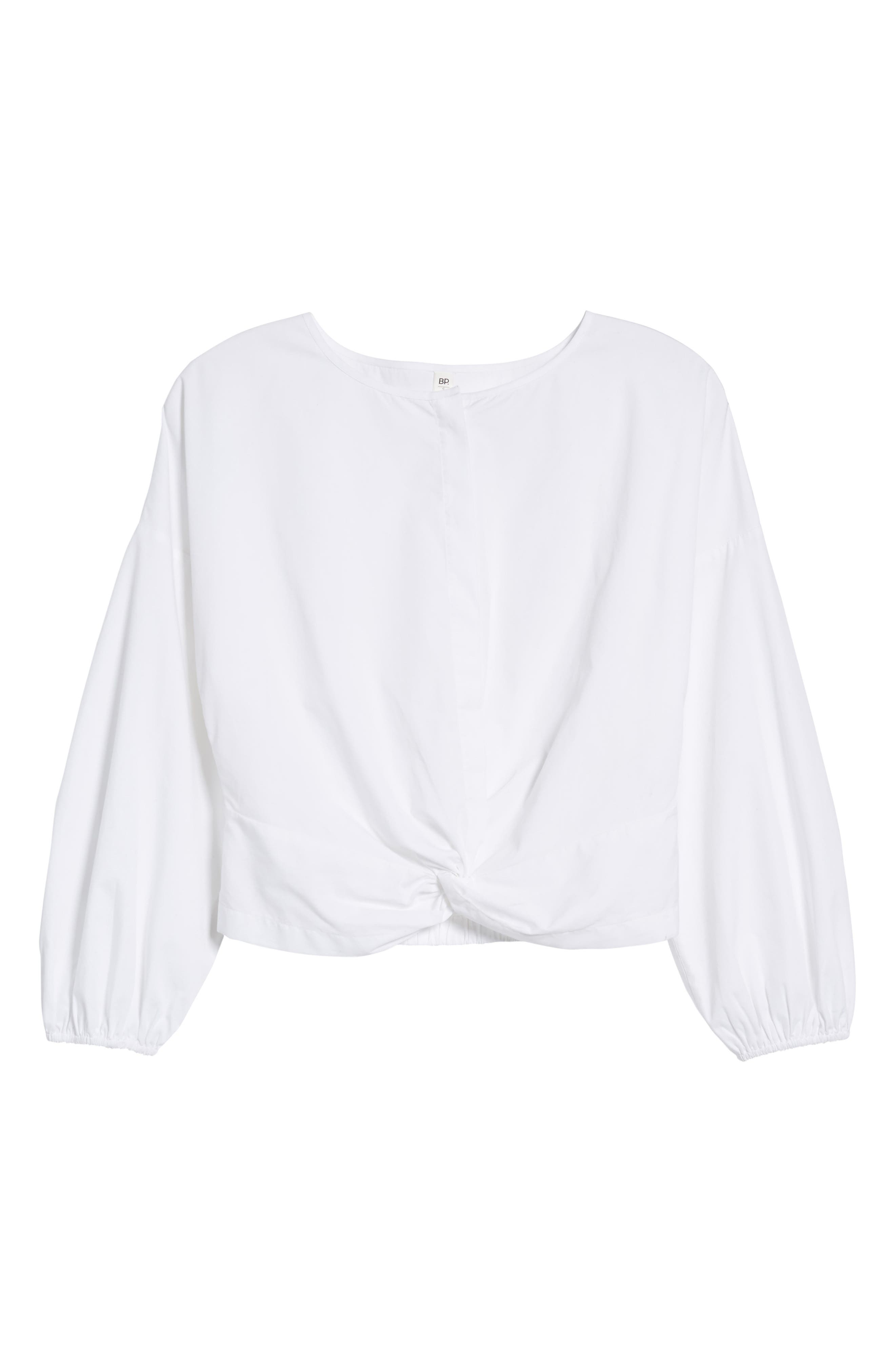 Twist Hem Crop Top,                             Alternate thumbnail 6, color,                             100