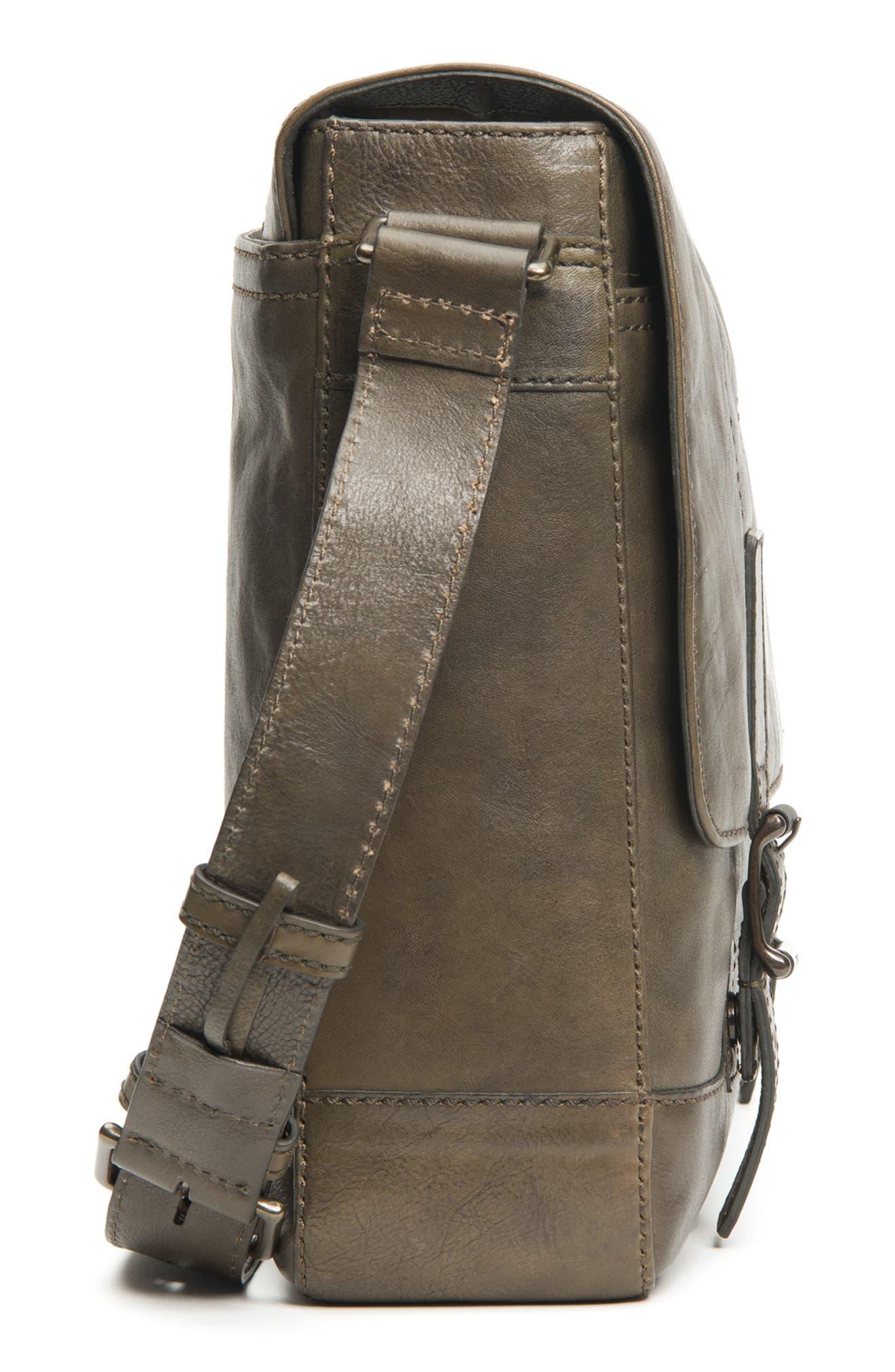 'Oliver' Leather Messenger Bag,                             Alternate thumbnail 5, color,                             311
