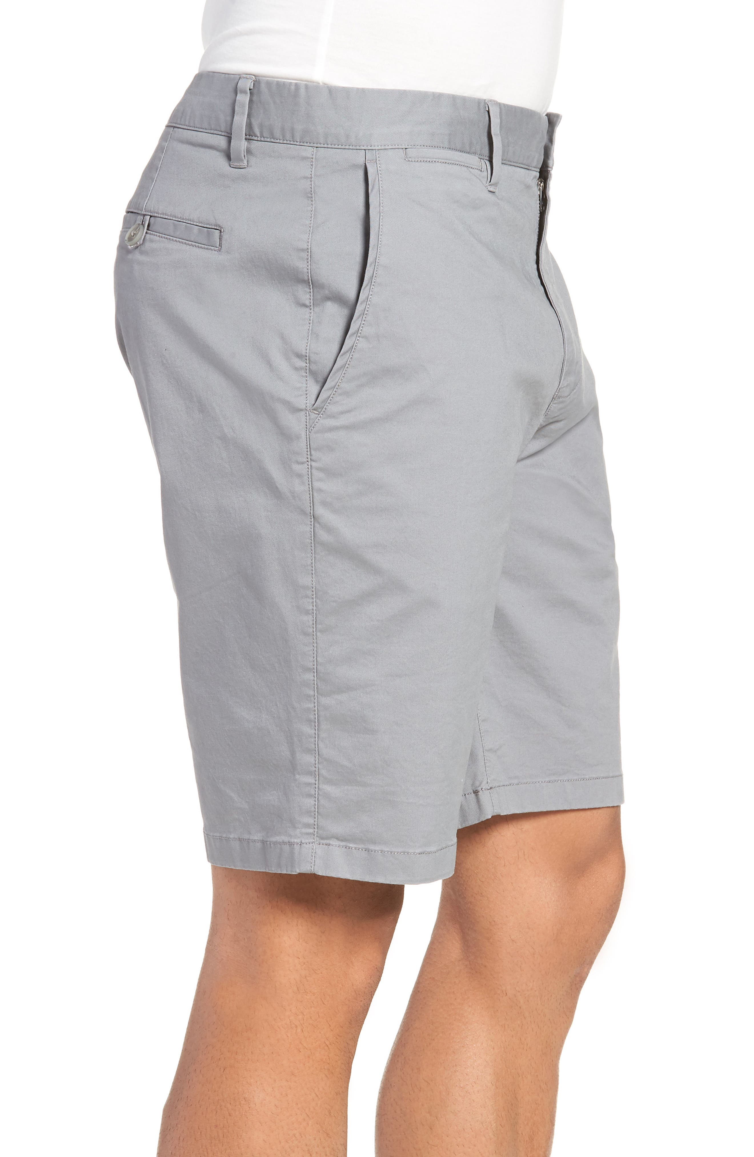 9-Inch Lightweight Stretch Chino Shorts,                             Alternate thumbnail 3, color,                             NICKEL