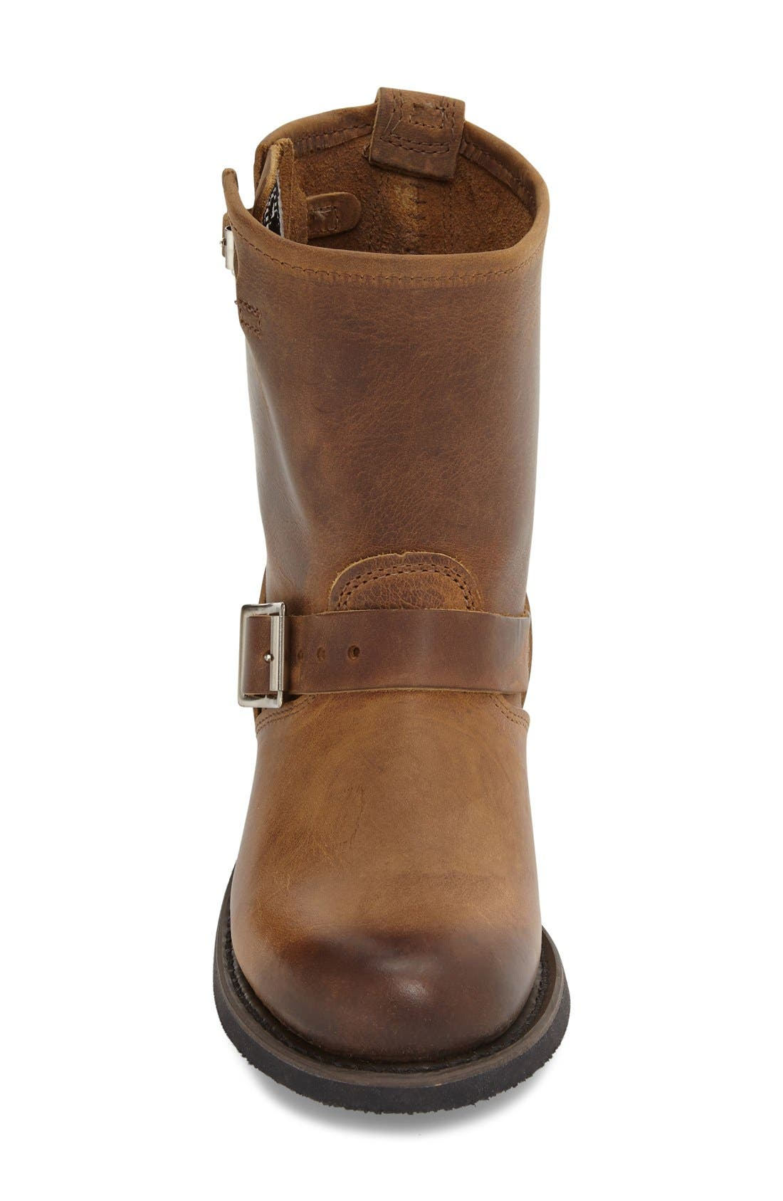 'Engineer 8R' Leather Boot,                             Alternate thumbnail 4, color,