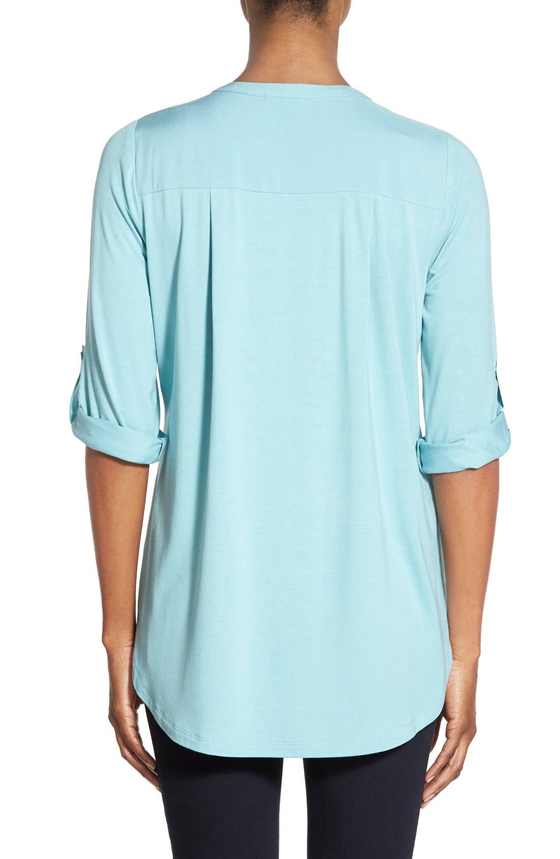 Mixed Media V-Neck Tunic,                             Alternate thumbnail 150, color,
