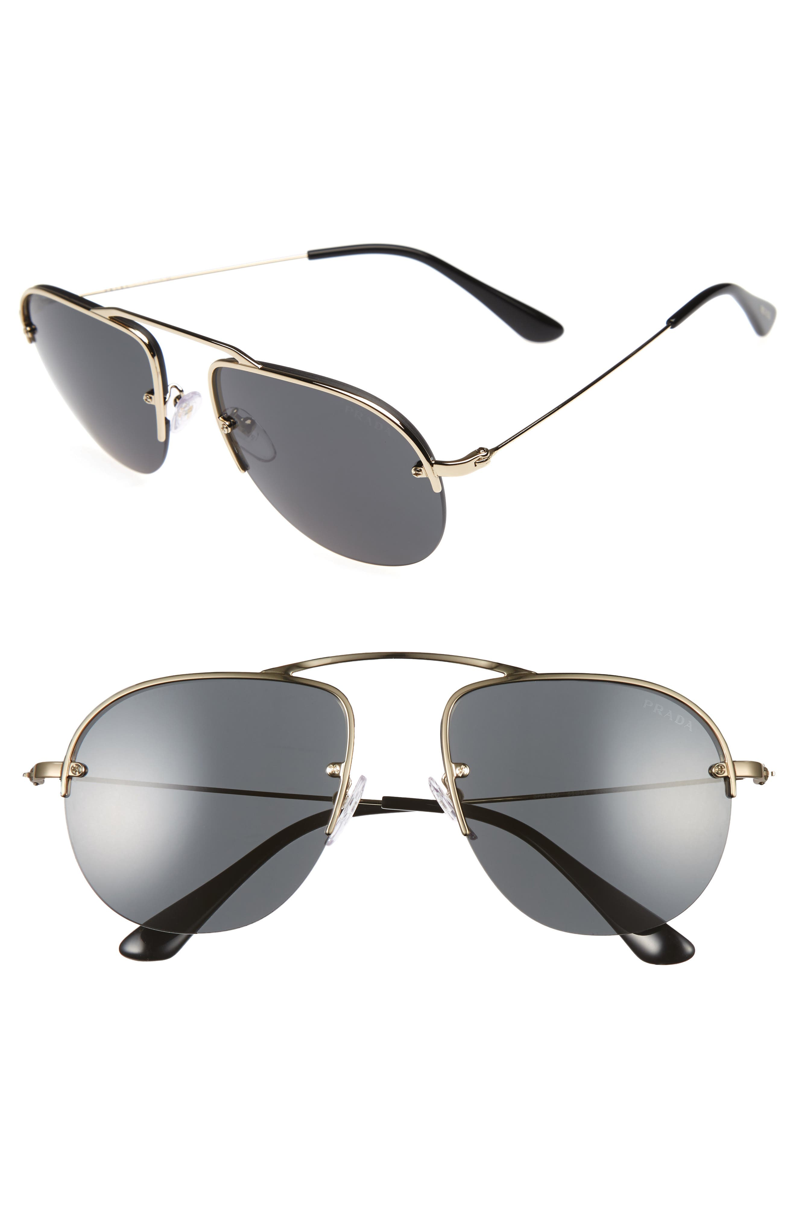 Parallel Universe 55mm Aviator Sunglasses,                             Main thumbnail 2, color,