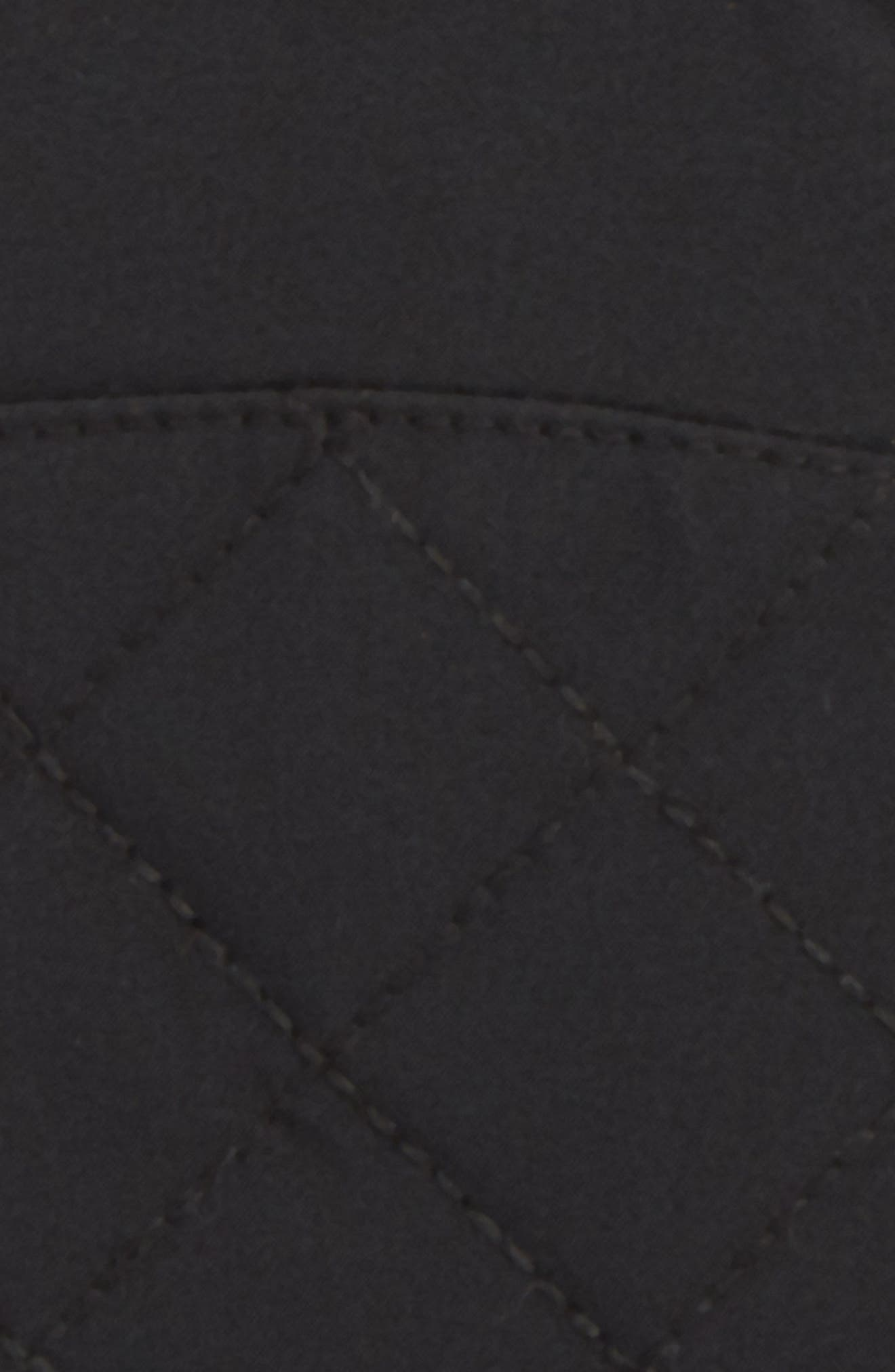 UGG<sup>®</sup> Water Resistant Touchscreen Quilted Nylon, Leather & Genuine Shearling Gloves,                             Alternate thumbnail 3, color,                             001