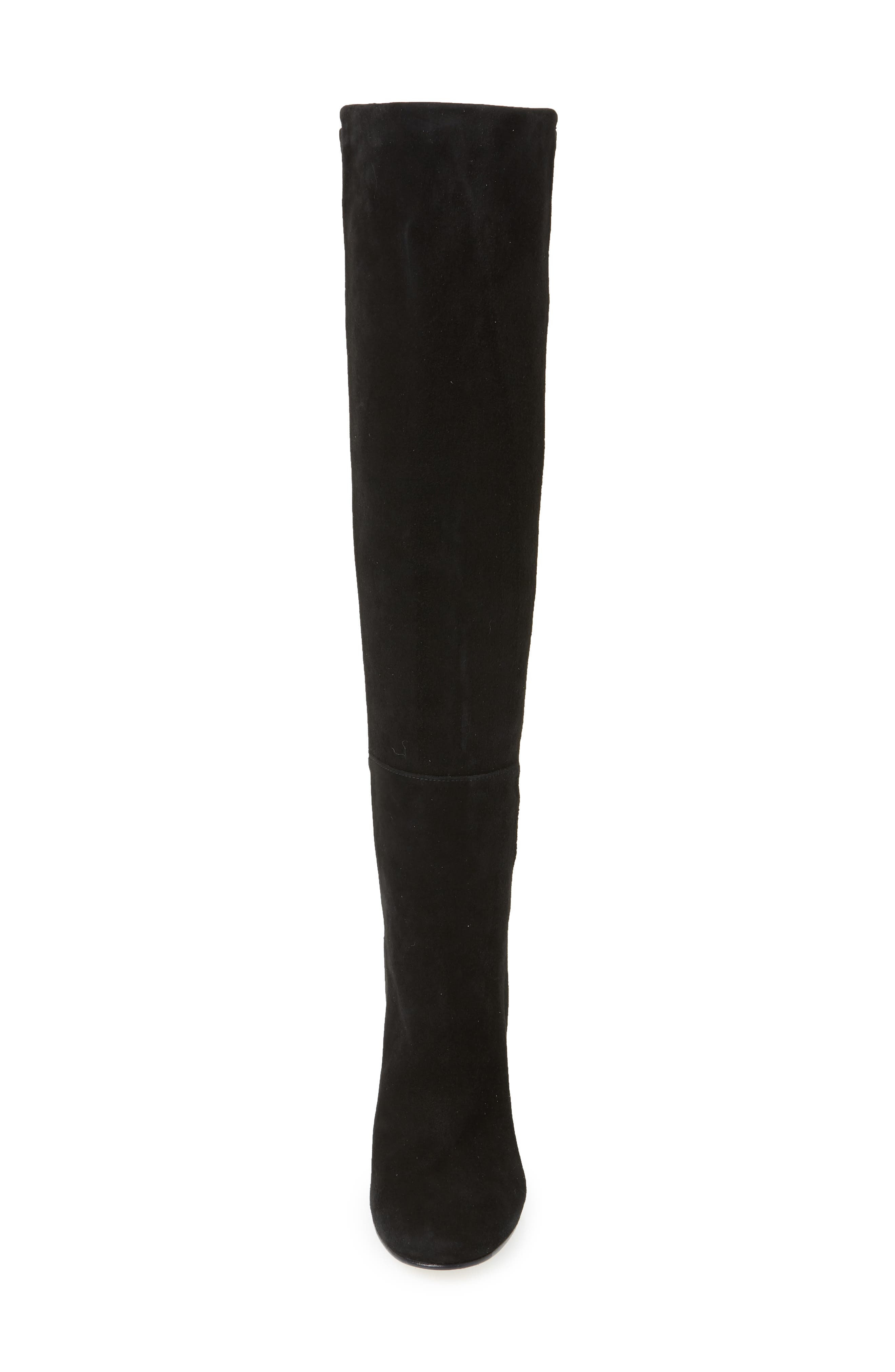 Eloise Over the Knee Boot,                             Alternate thumbnail 4, color,                             BLACK SUEDE