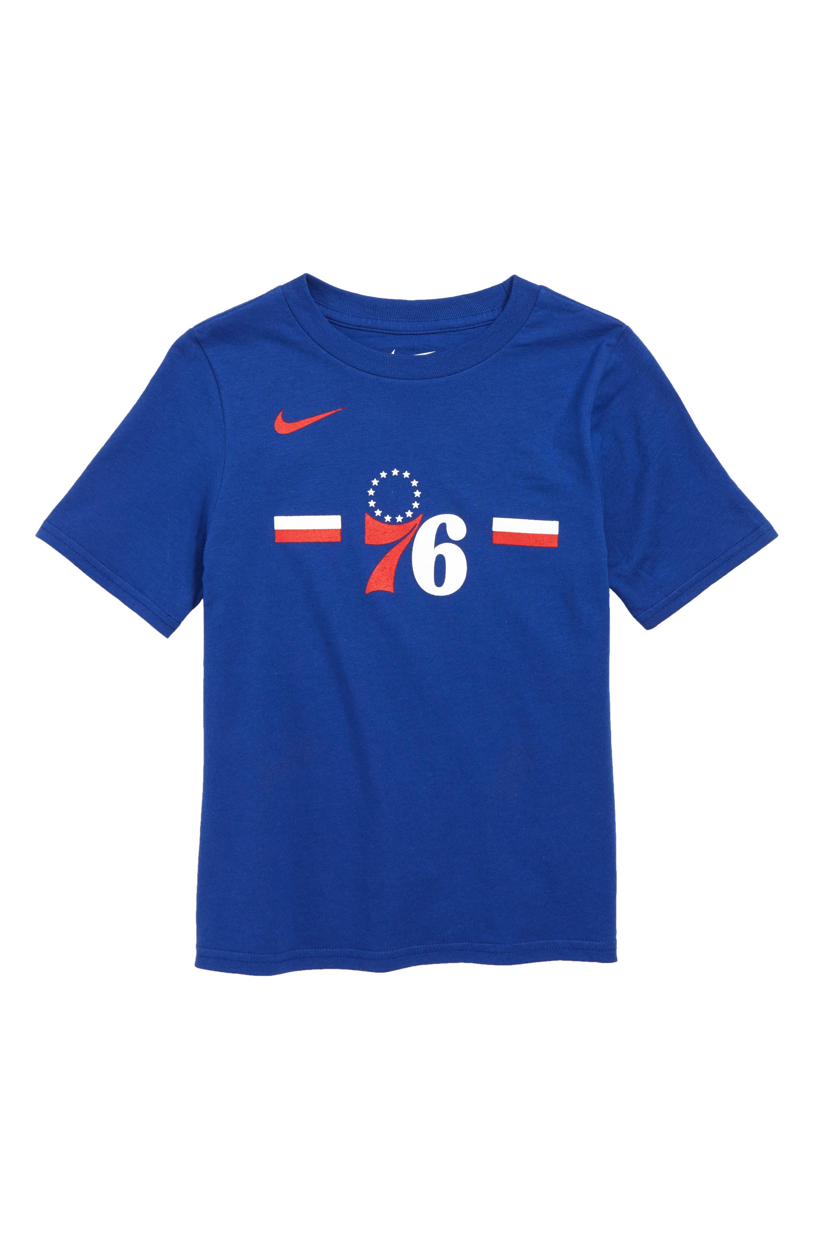 Philadelphia 76ers Dri-FIT T-Shirt, Main, color, RUSH BLUE