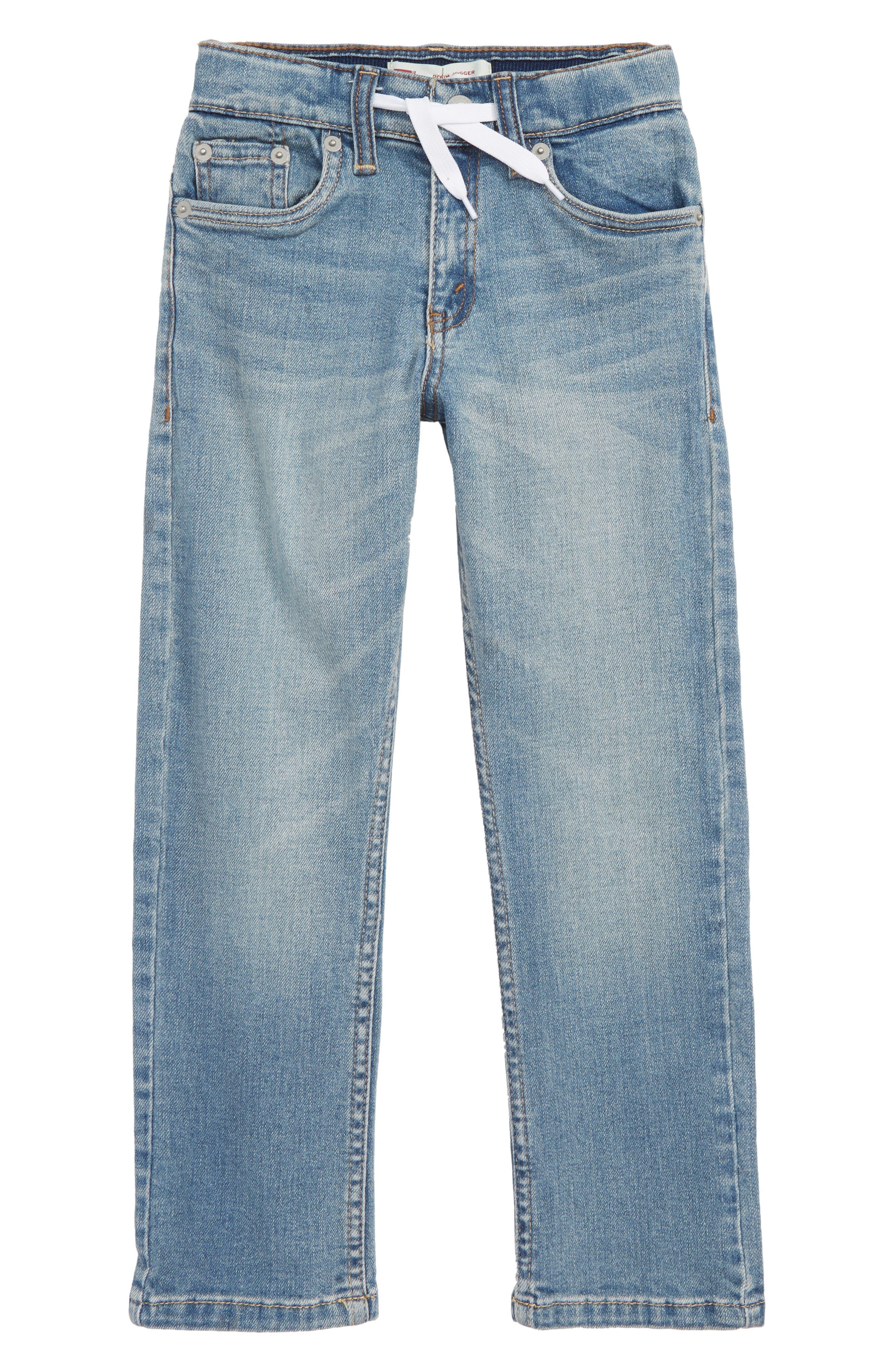 Drawstring Denim Pants,                         Main,                         color, FOUND