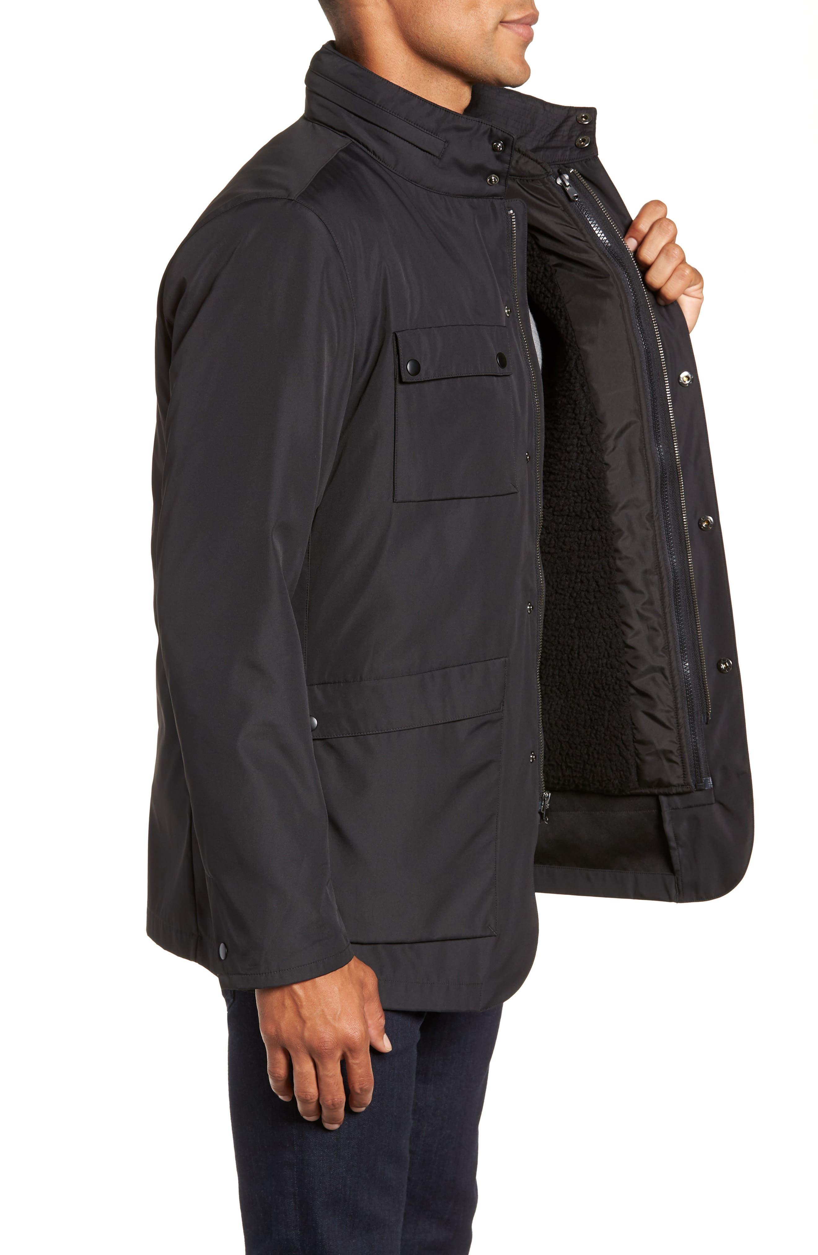 Oak 3-in-1 Jacket,                             Alternate thumbnail 4, color,                             BLACK