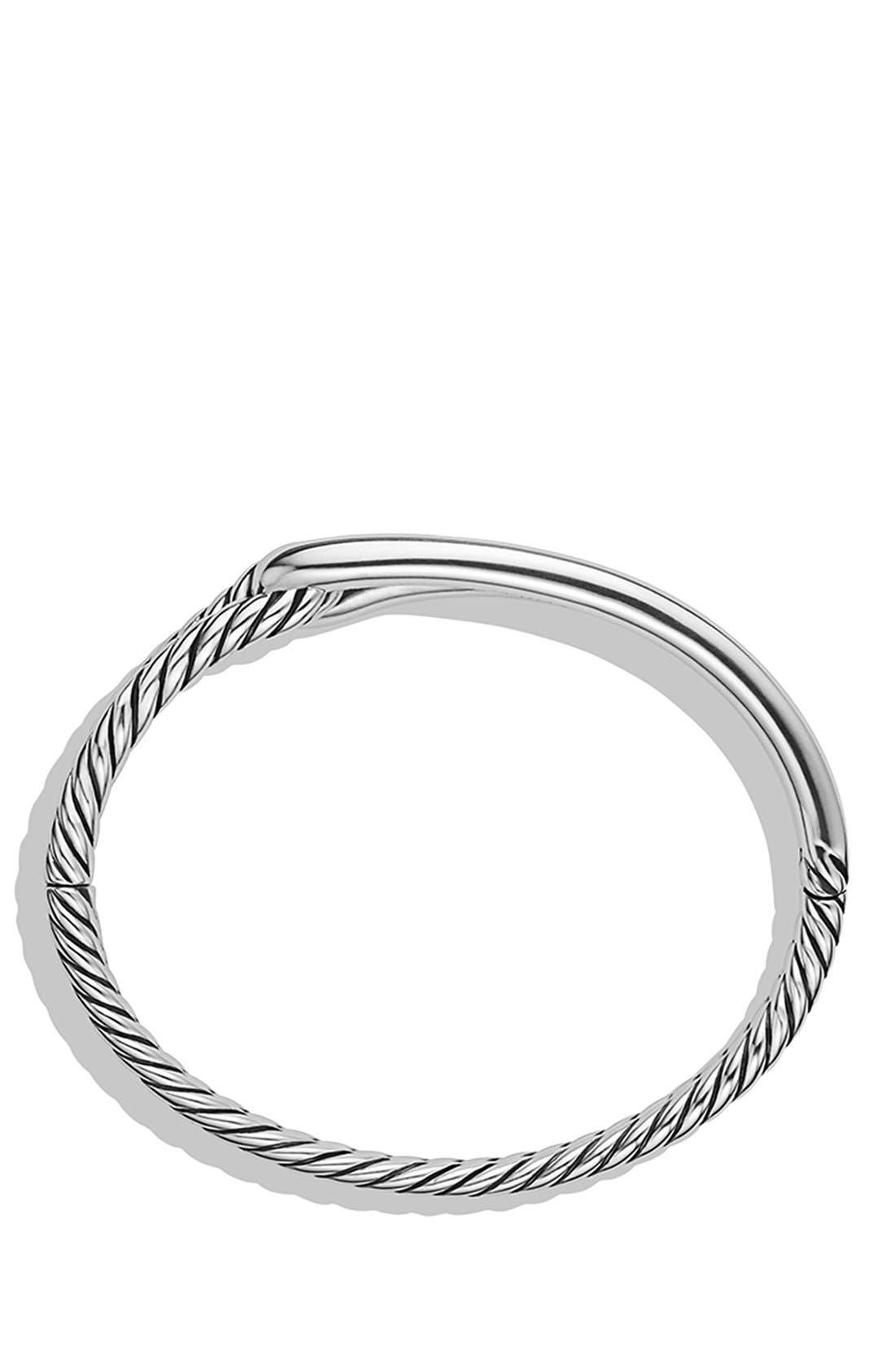'Labyrinth' Single Loop Bracelet,                             Alternate thumbnail 2, color,                             SILVER
