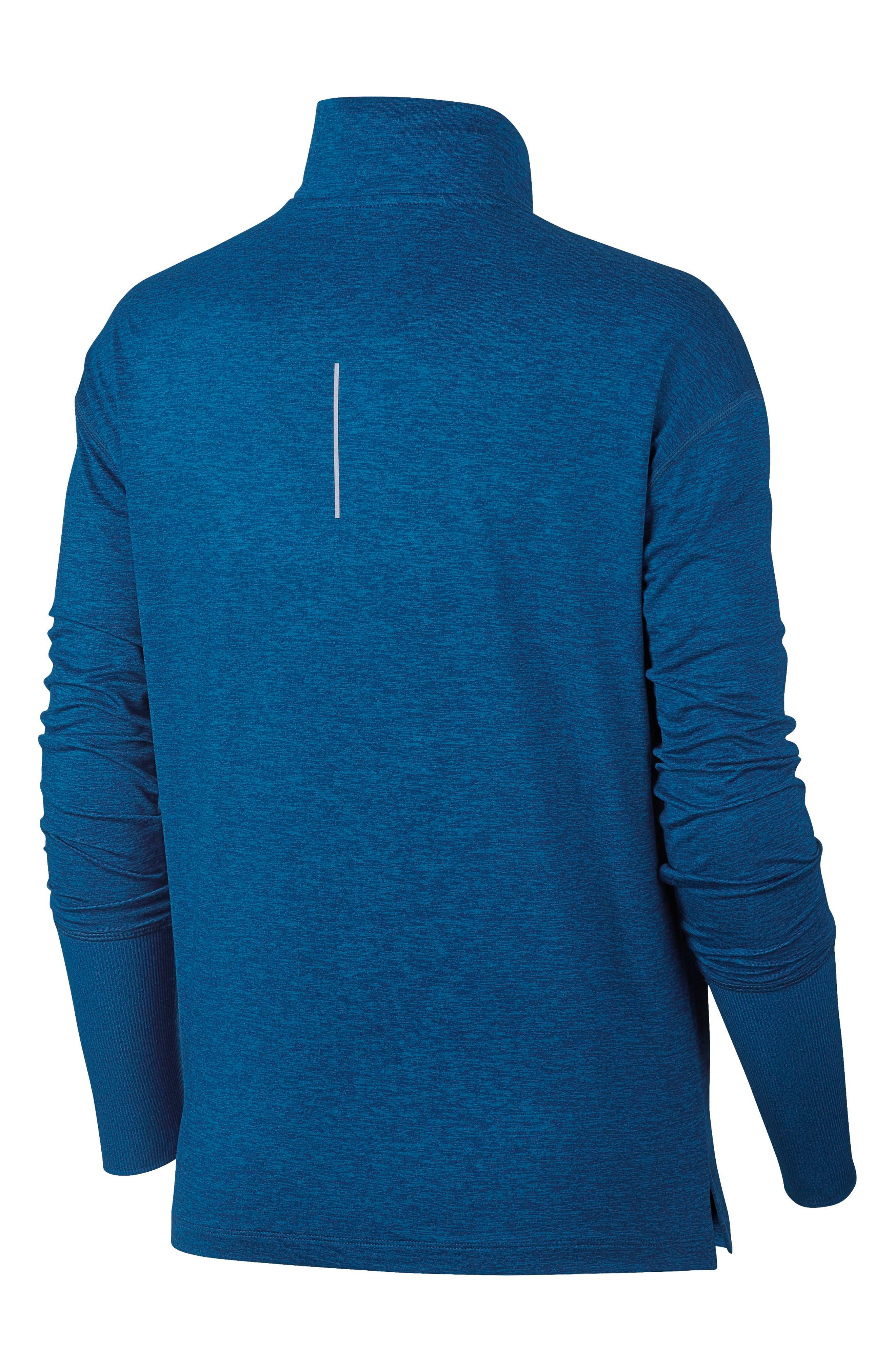 Element Long-Sleeve Running Top,                             Alternate thumbnail 2, color,                             BLUE FORCE/ GREEN ABYSS