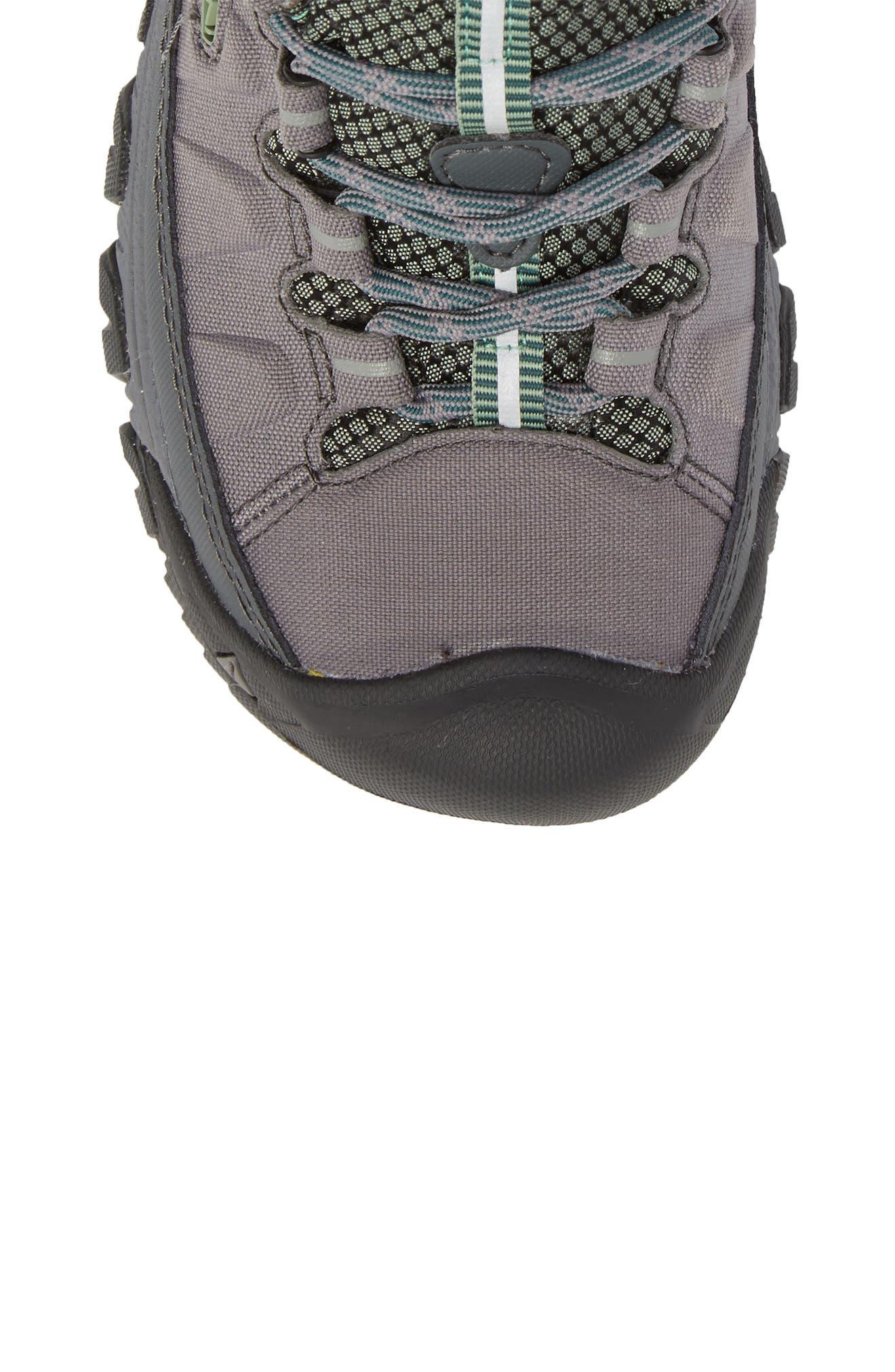 Targhee EXP Mid Waterproof Hiking Shoe,                             Alternate thumbnail 5, color,                             STEEL GREY/ BASIL