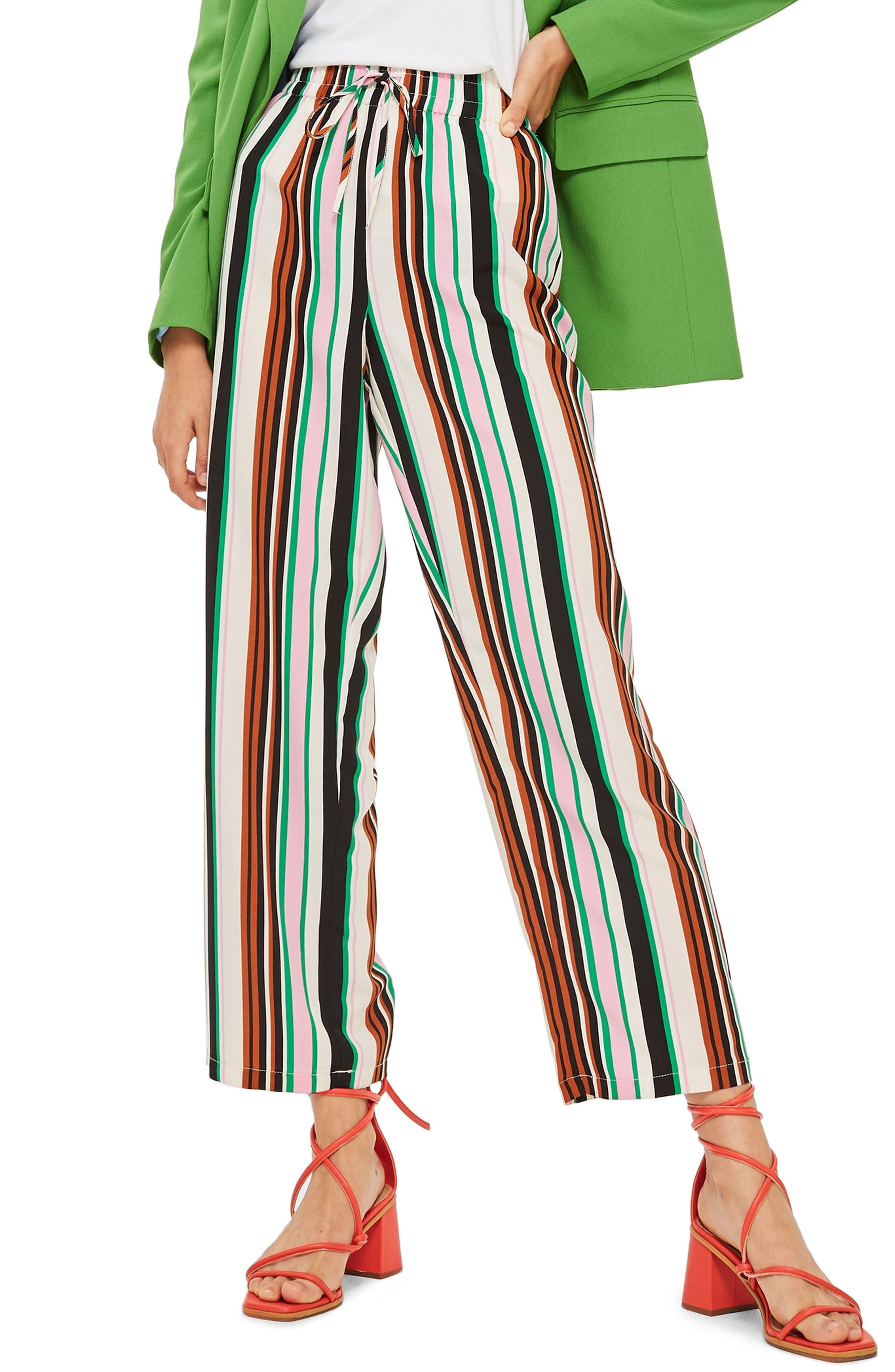 Stripe Slouch Pants,                             Main thumbnail 1, color,                             IVORY MULTI