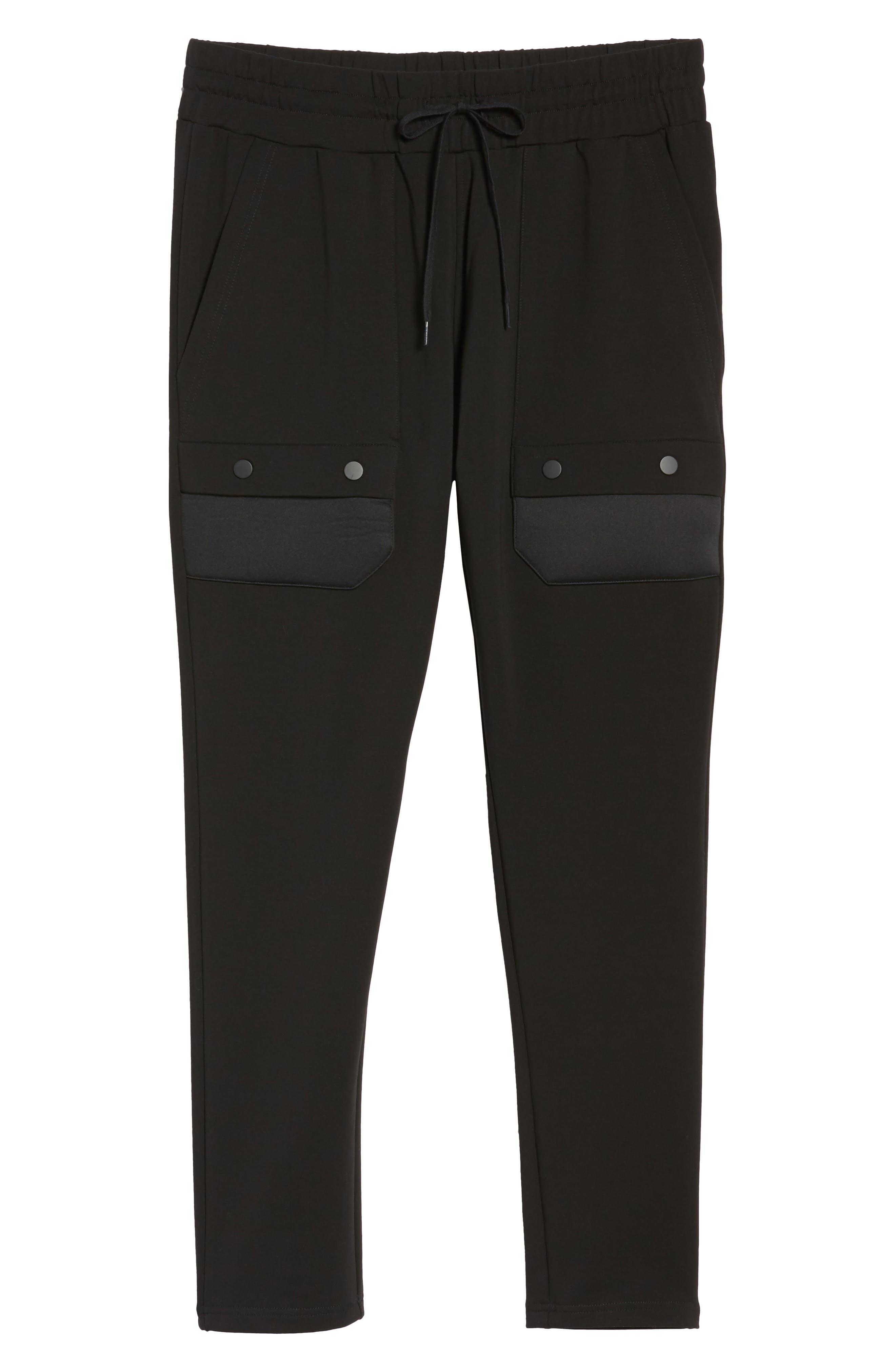 Fleece Cargo Pants,                             Alternate thumbnail 6, color,                             001