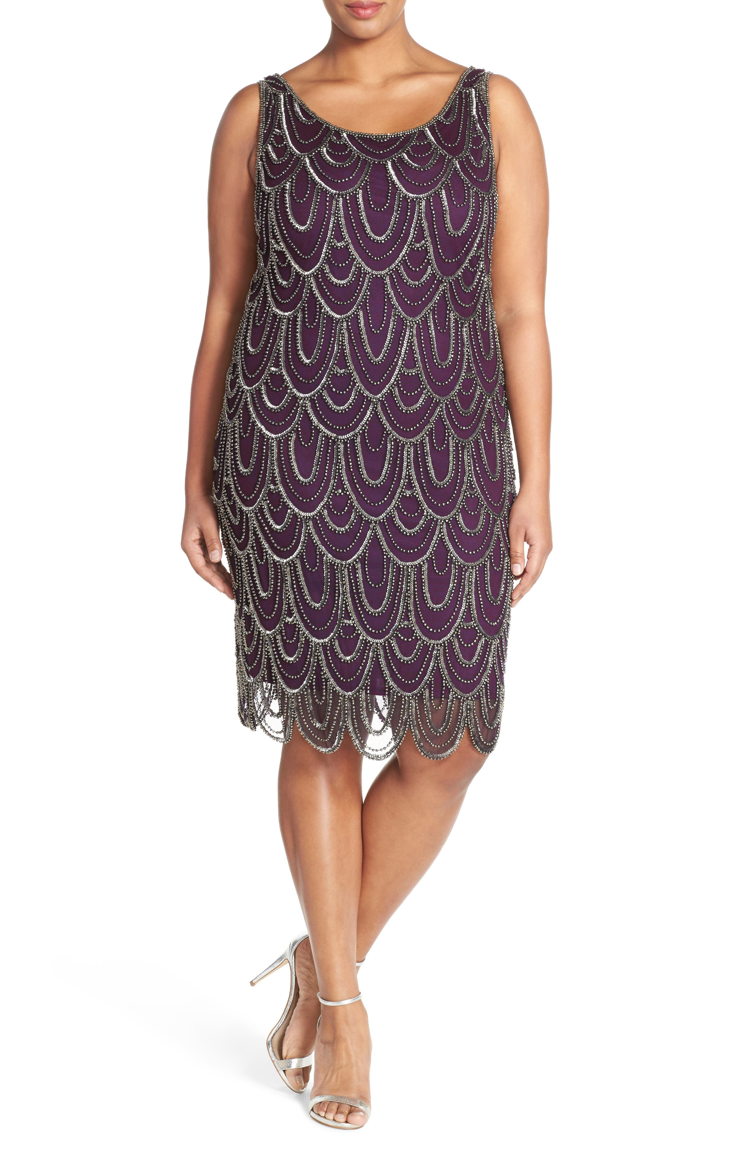 Beaded Sheath Dress,                             Alternate thumbnail 65, color,