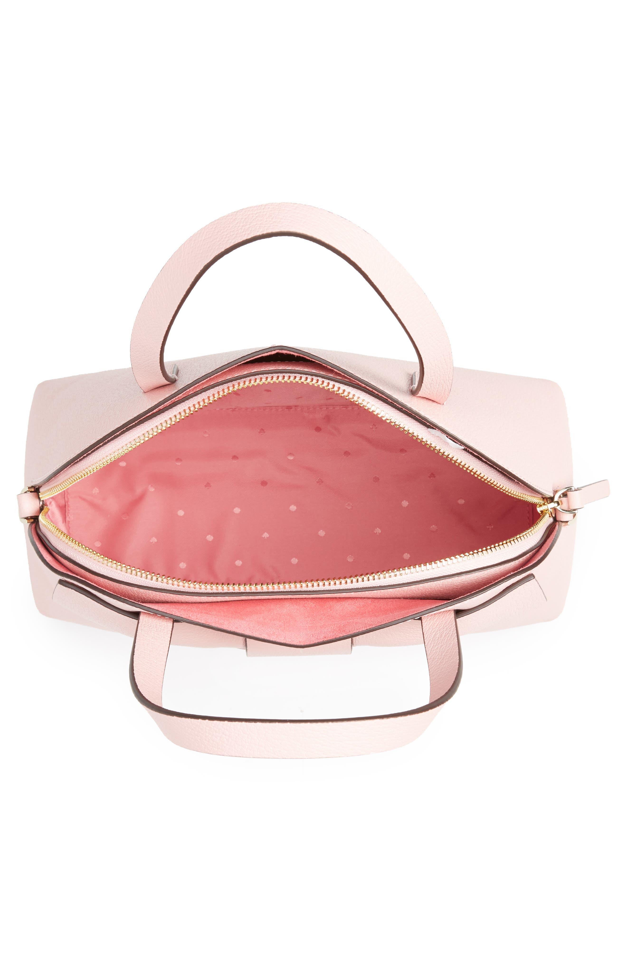 olive drive lottie leather satchel,                             Alternate thumbnail 8, color,
