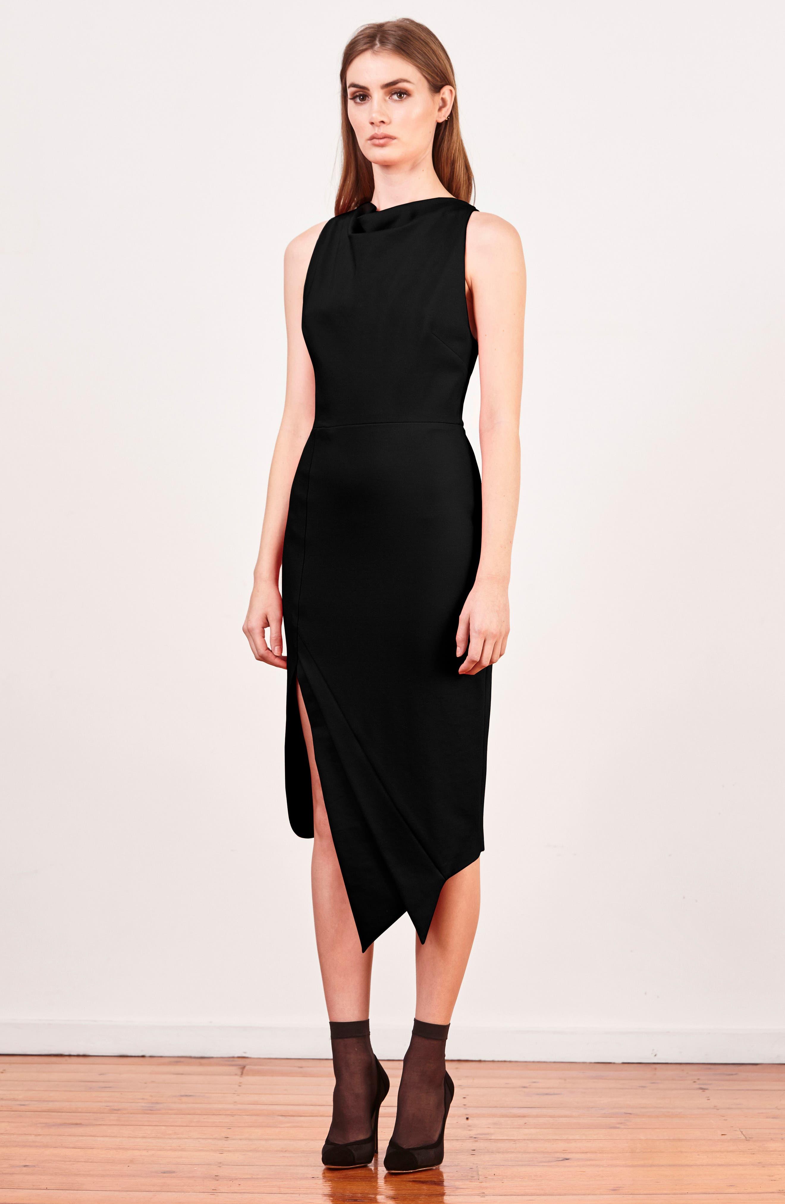 Carmen Sheath Dress,                             Alternate thumbnail 7, color,                             001