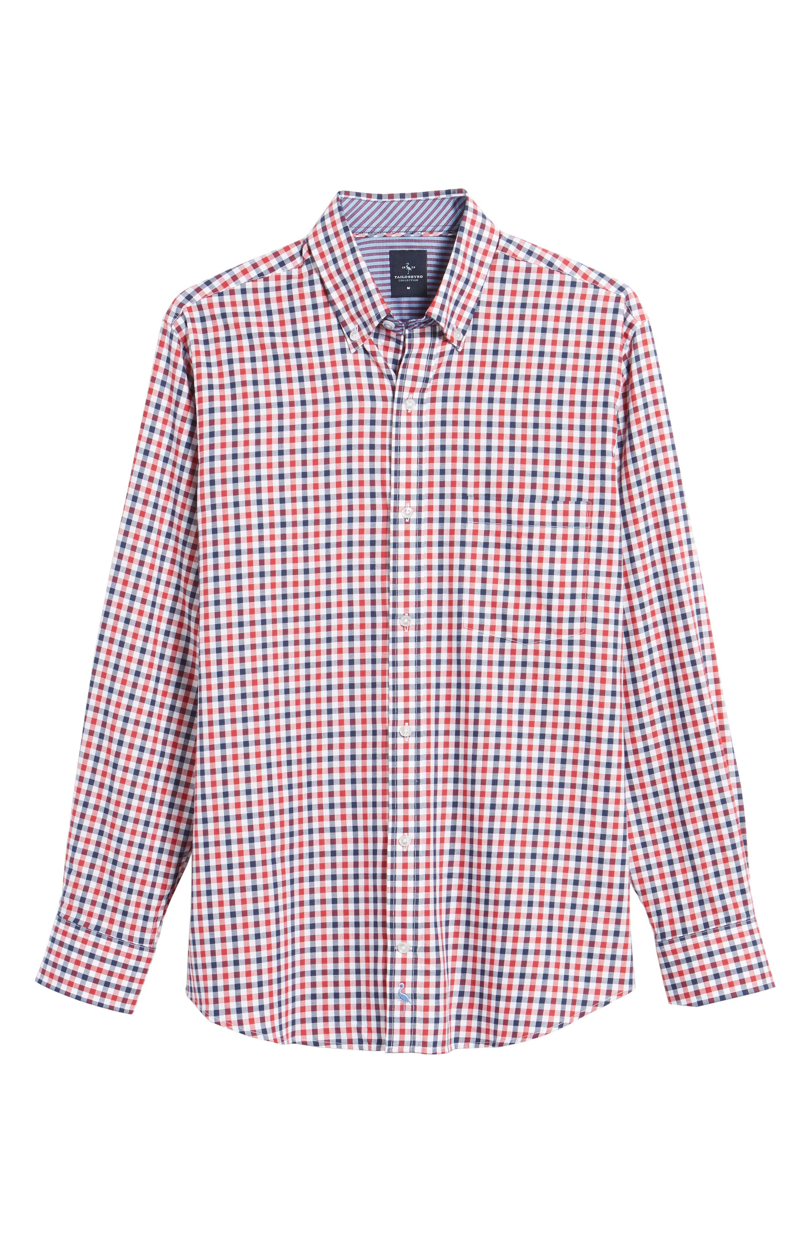 Bernice Check Sport Shirt,                             Alternate thumbnail 6, color,                             600