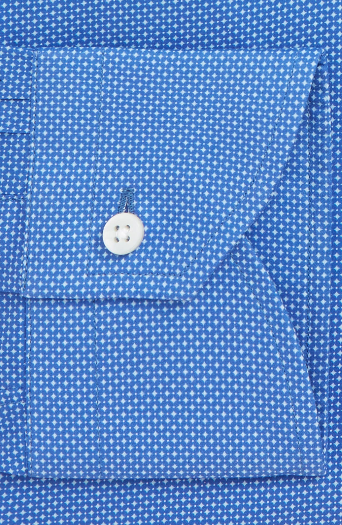 Trim Fit Dot Dress Shirt,                             Alternate thumbnail 7, color,                             430