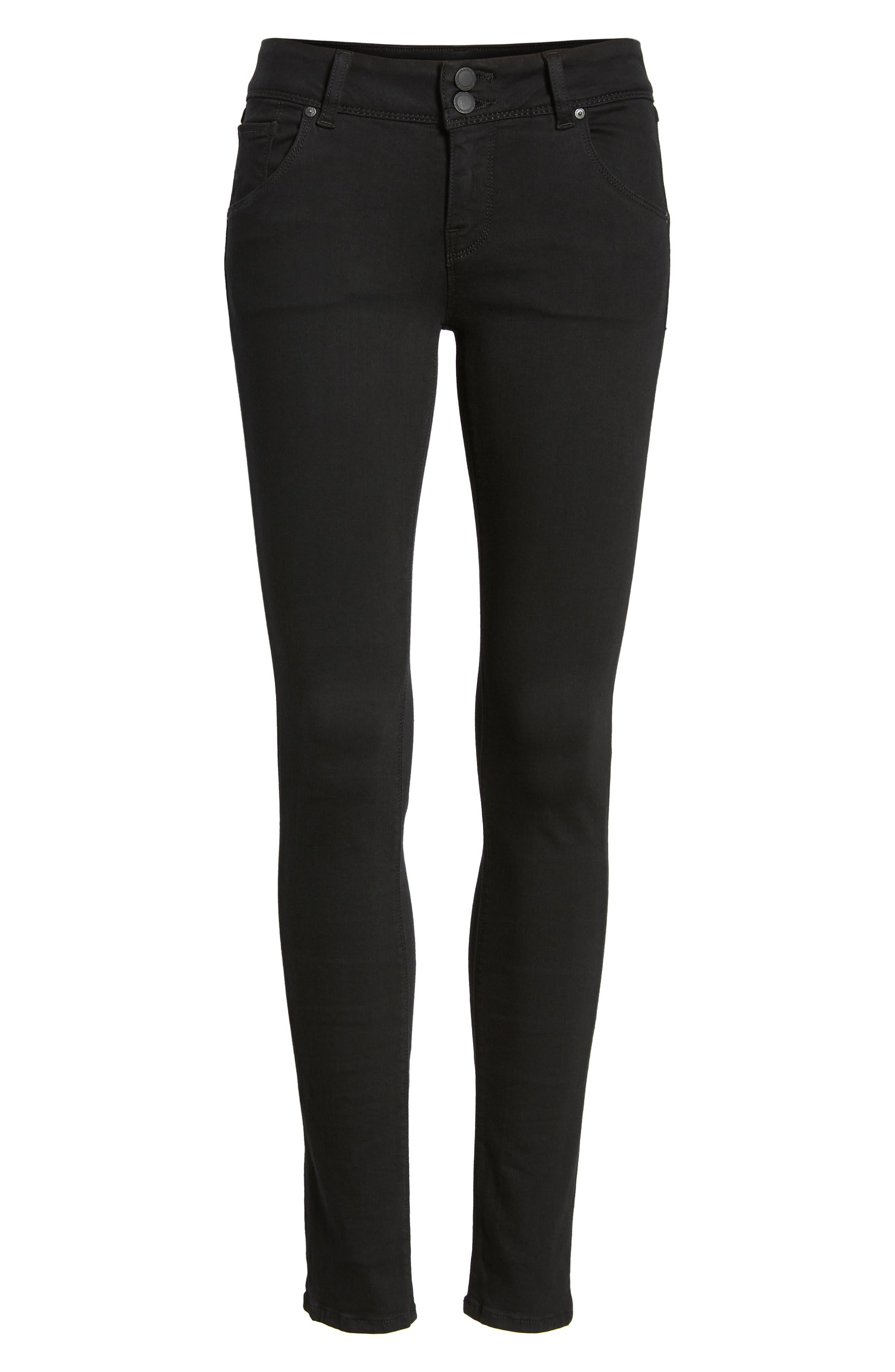 Collin Skinny Jeans,                             Alternate thumbnail 7, color,                             BLACK