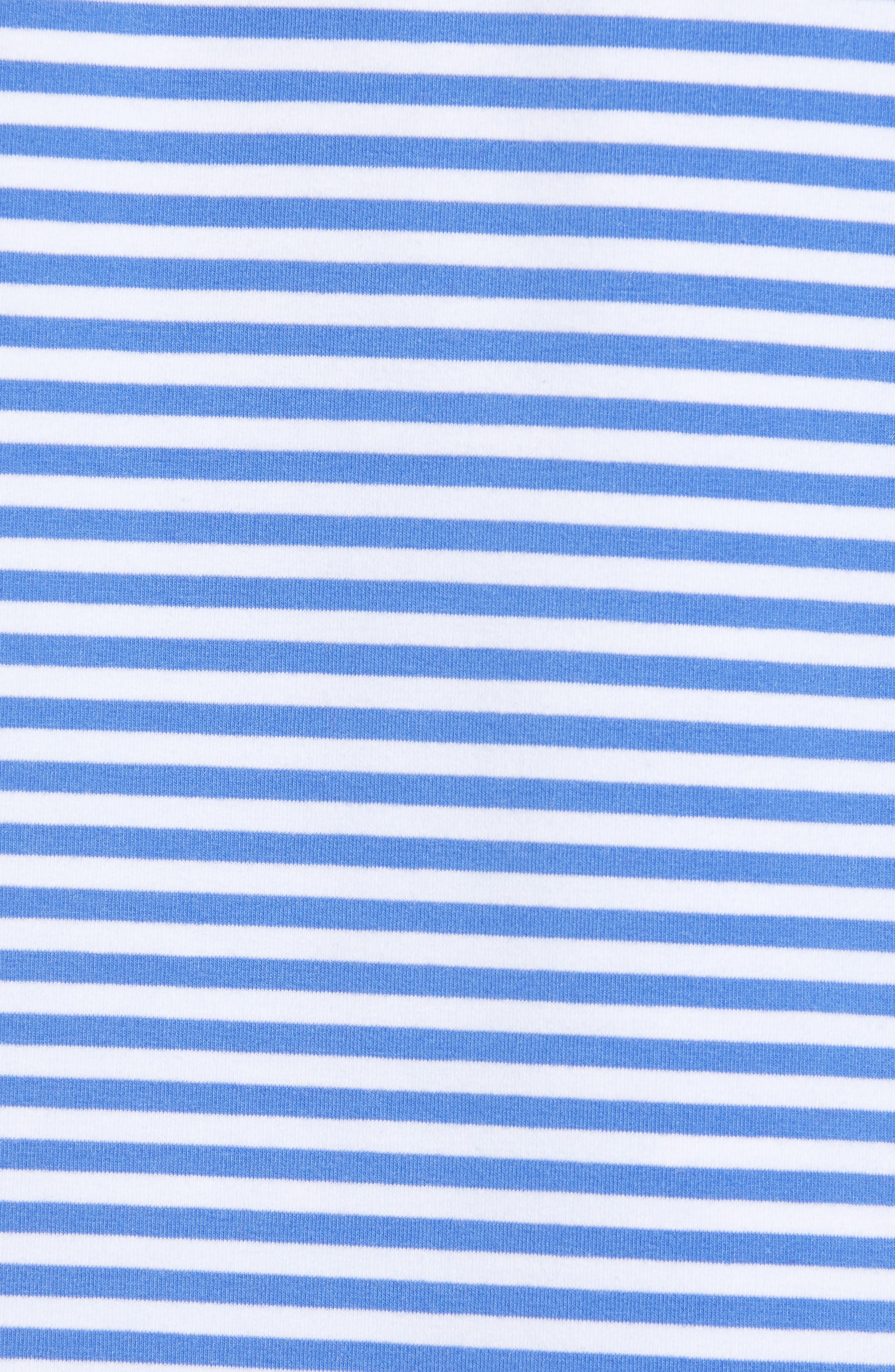 Stripe Whale Hoodie,                             Alternate thumbnail 5, color,                             MARLIN