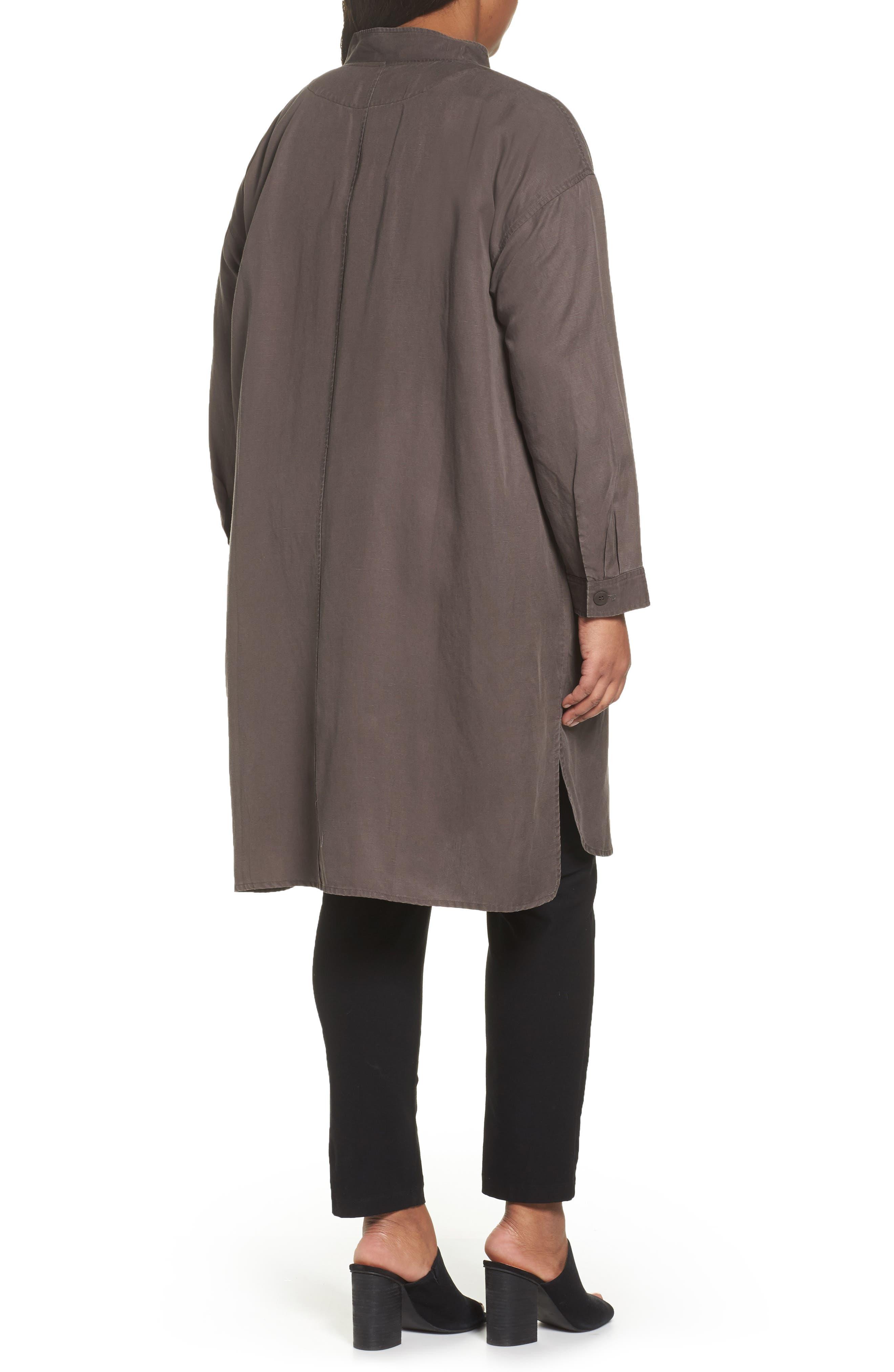 Long Tencel<sup>®</sup> Lyocell & Linen Jacket,                             Alternate thumbnail 3, color,
