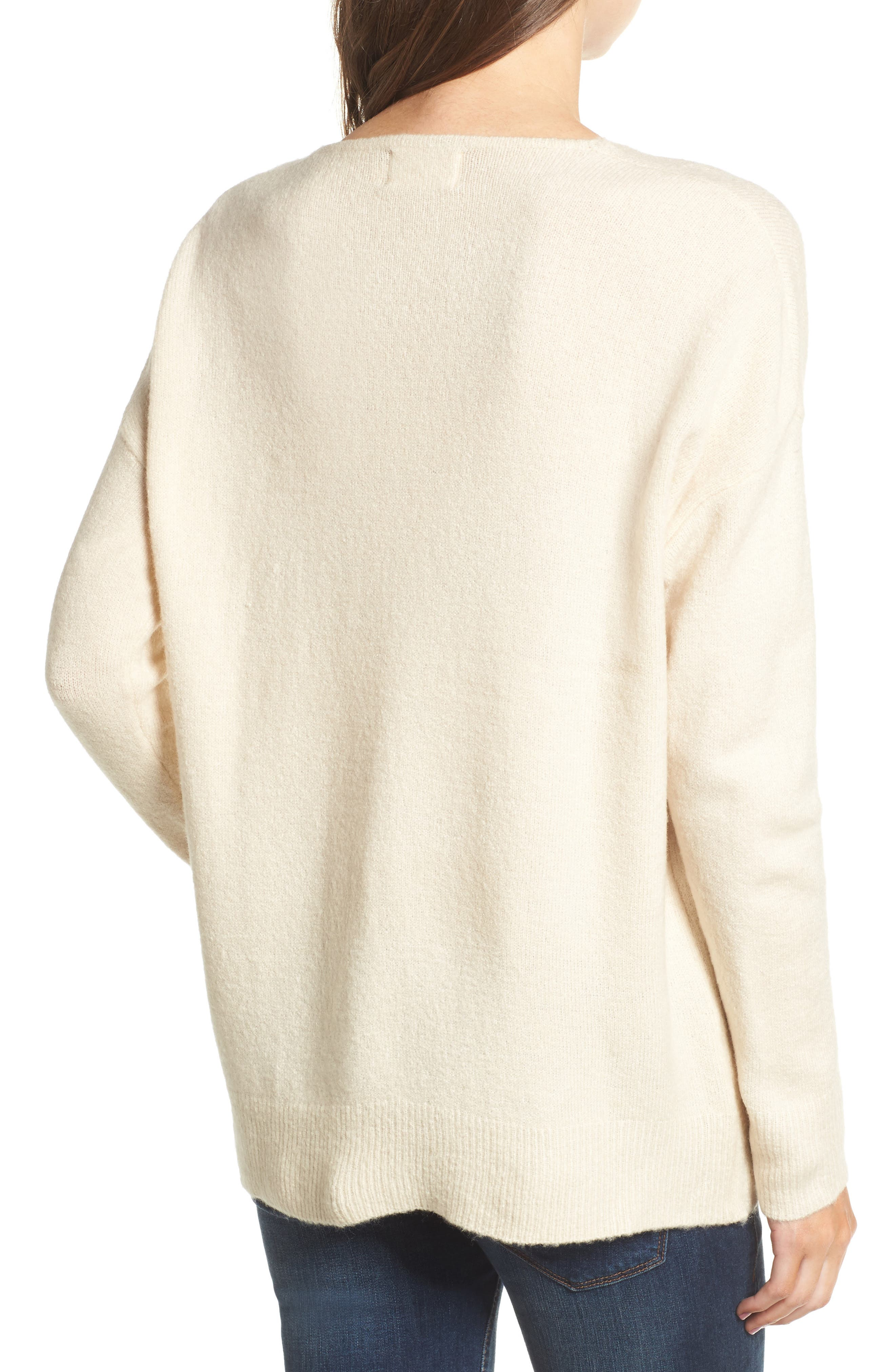 V-Neck Sweater,                             Alternate thumbnail 4, color,