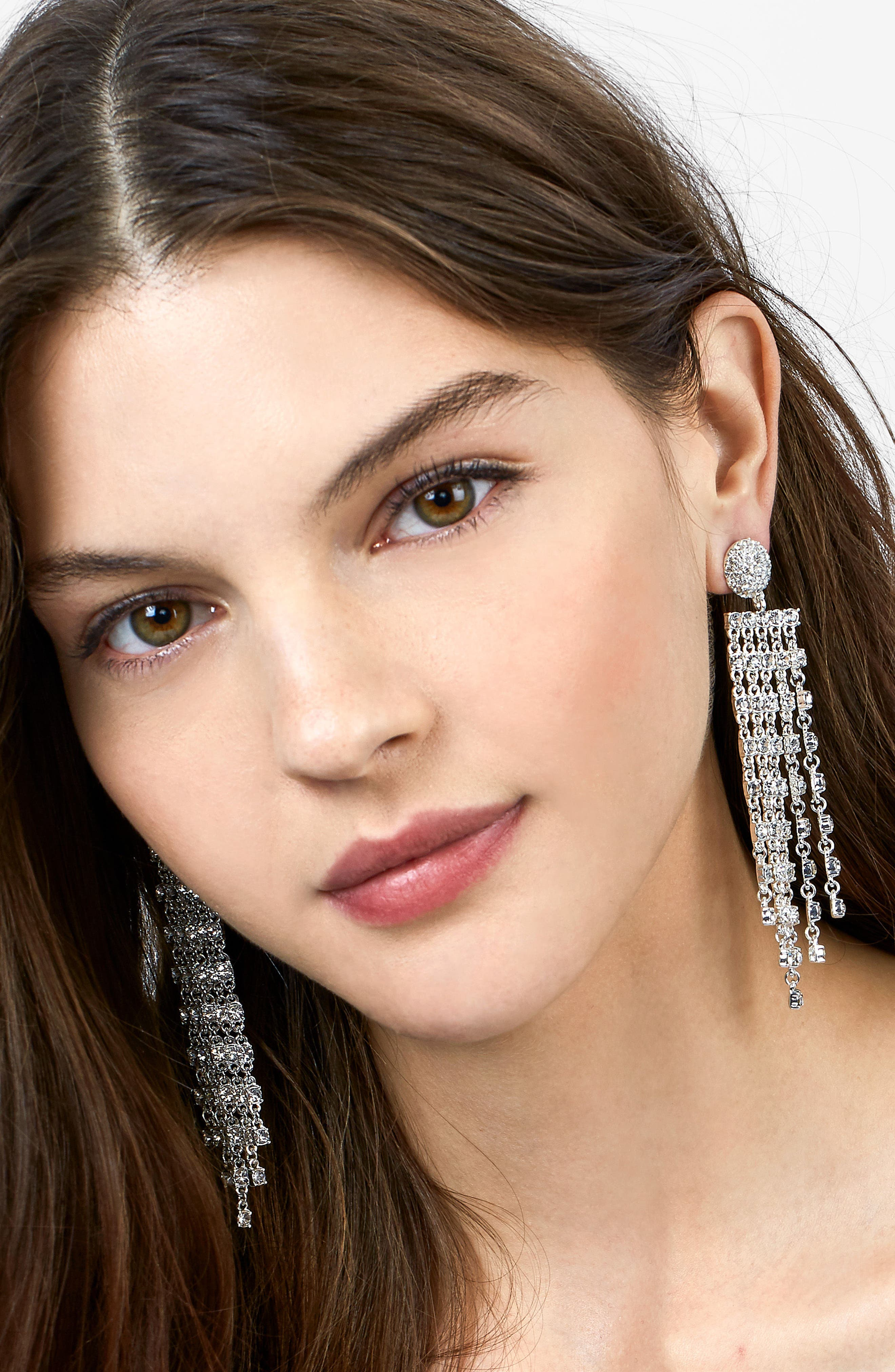 Prima Donna Crystal Drop Earrings,                             Alternate thumbnail 3, color,                             040