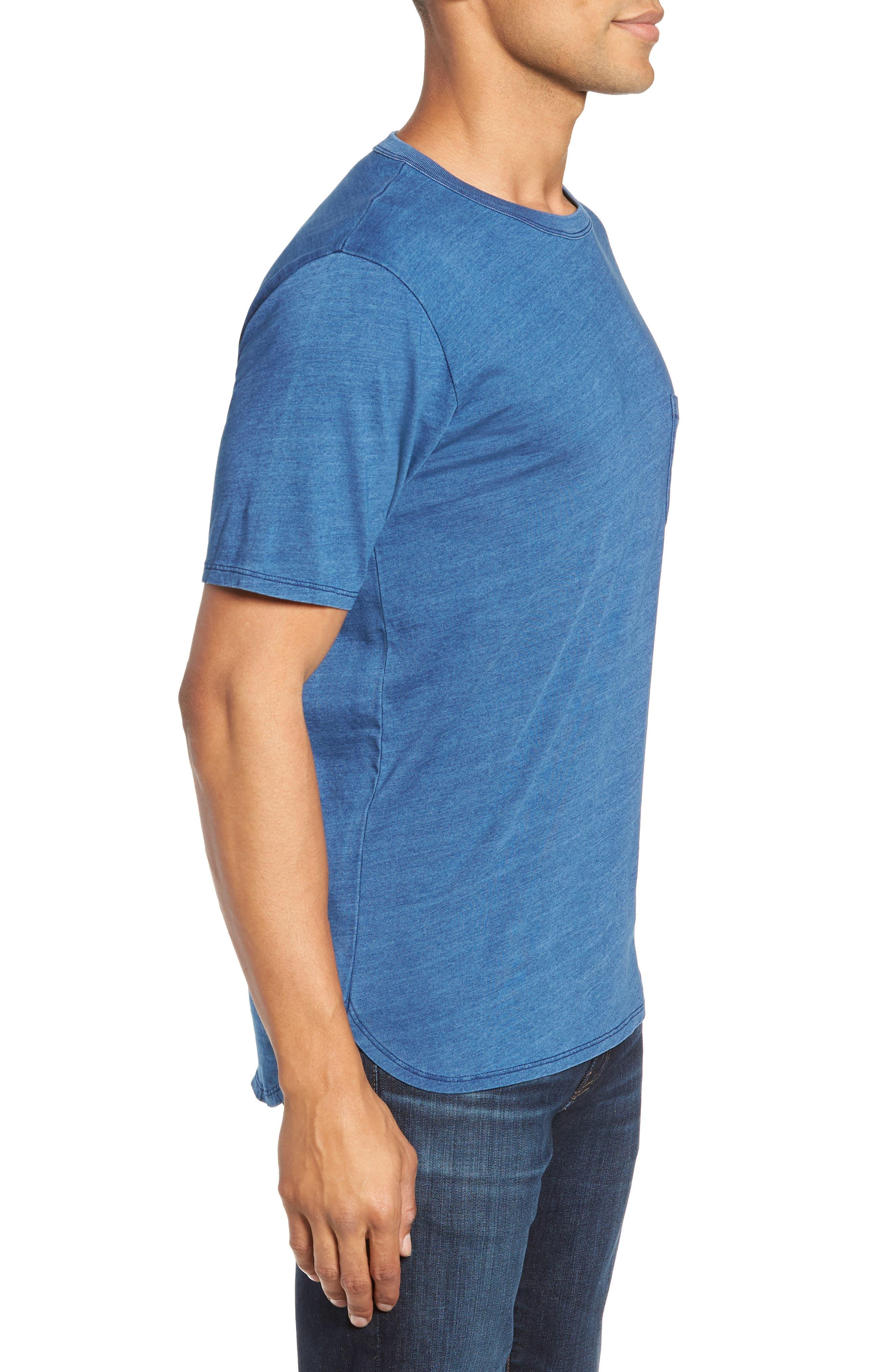 Split Hem Crewneck T-Shirt,                             Alternate thumbnail 3, color,                             432