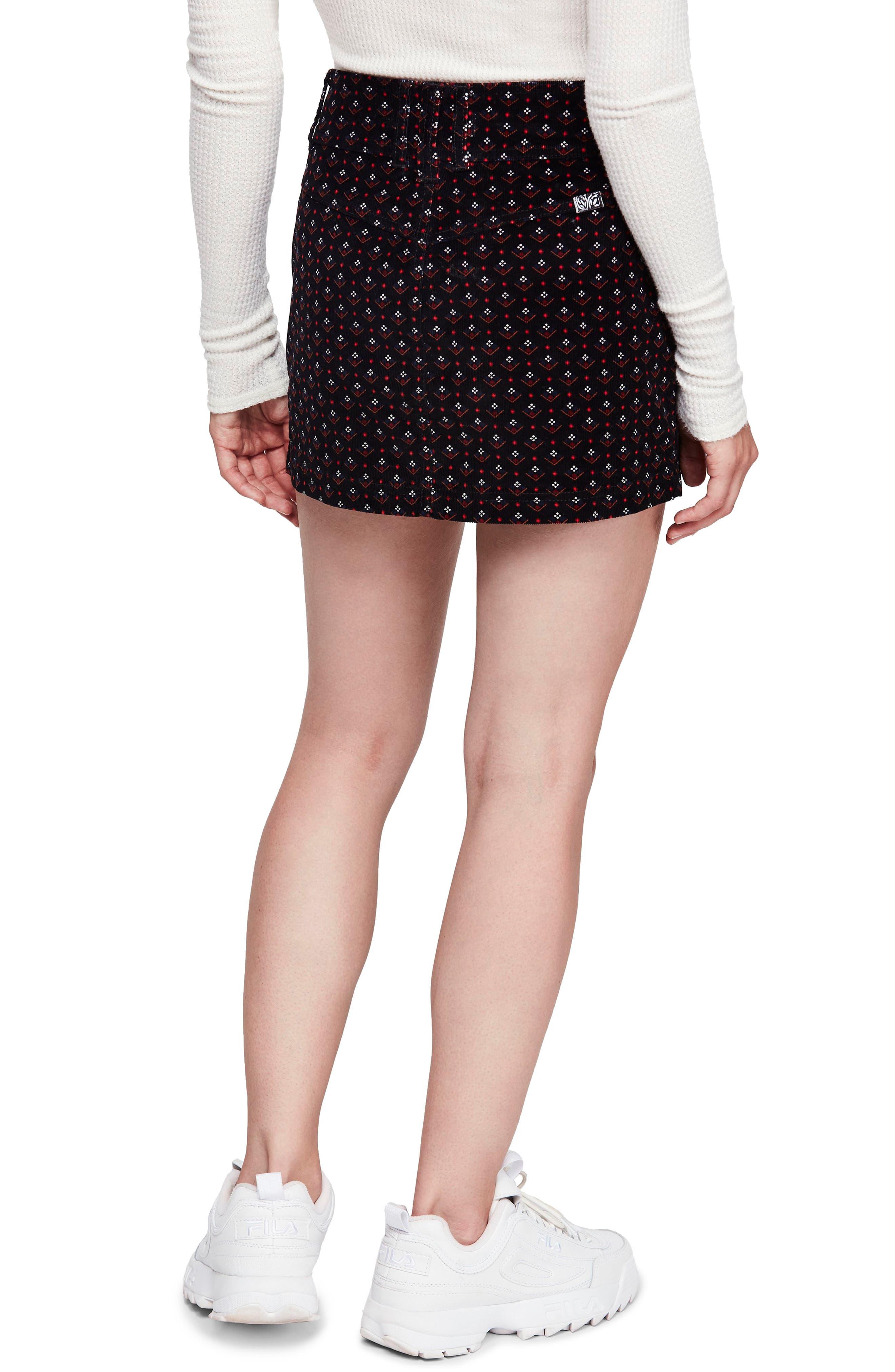 Joanie Print Corduroy Skirt,                             Alternate thumbnail 2, color,                             019