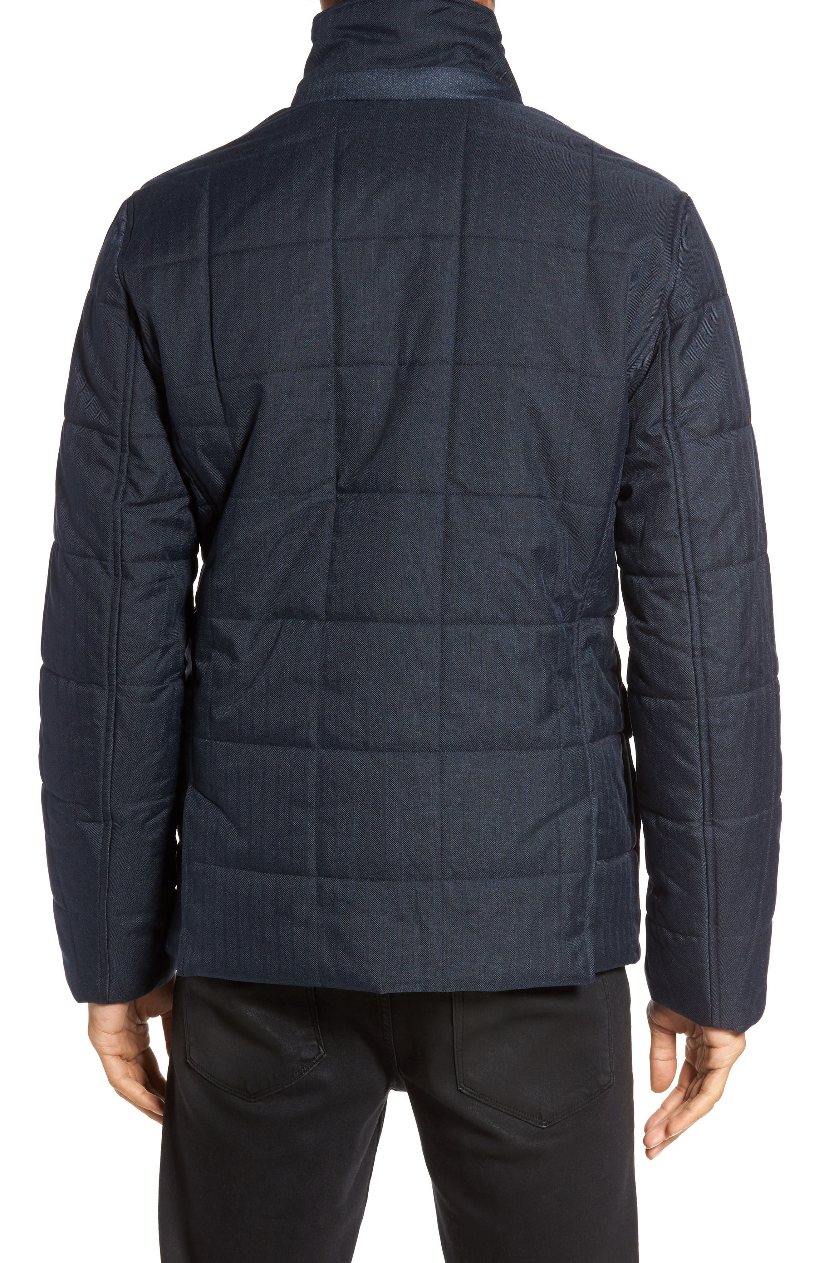Jasper Trim Fit Quilted Jacket with Removable Bib,                             Alternate thumbnail 6, color,