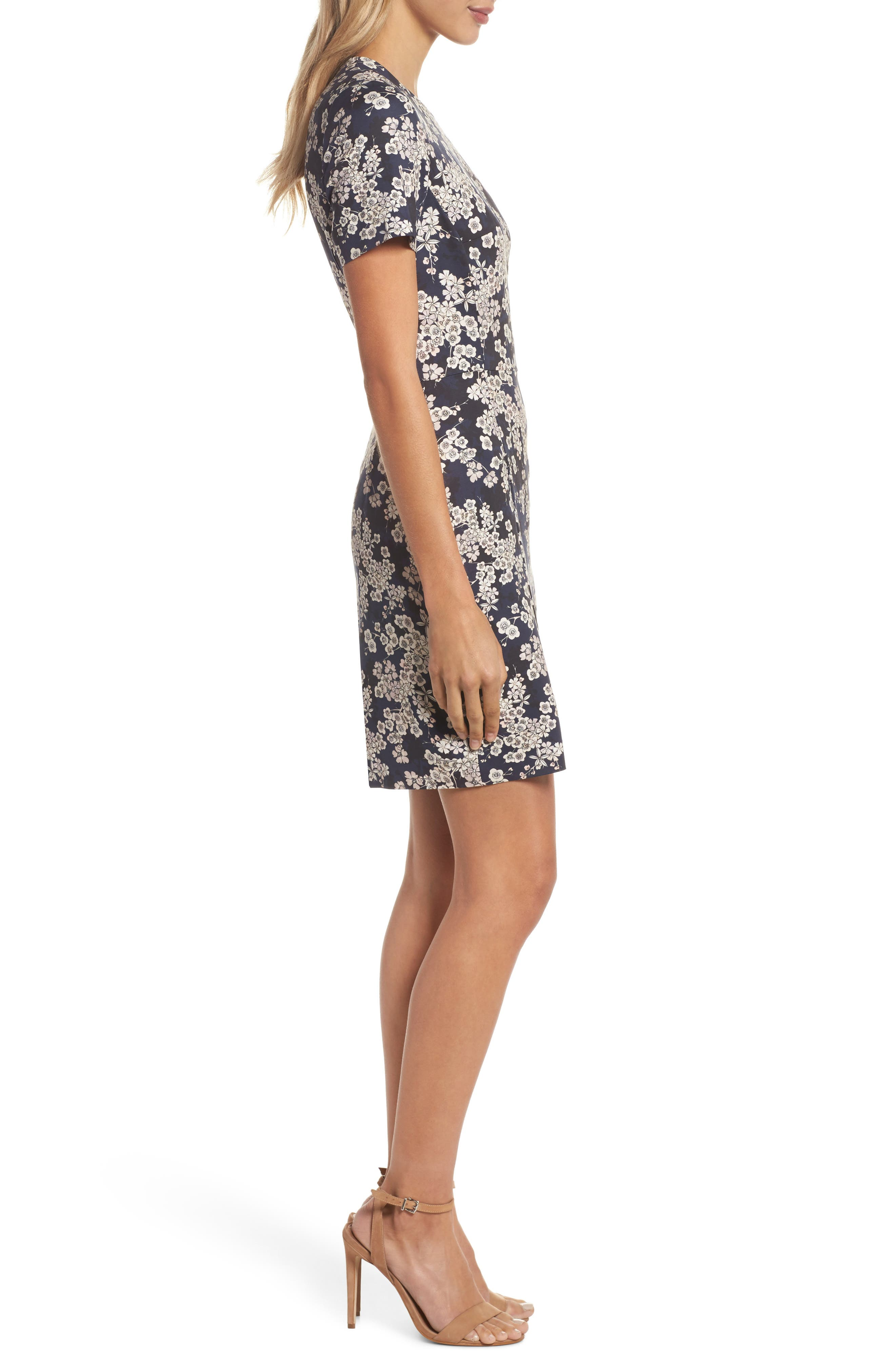 Rishiri Sheath Dress,                             Alternate thumbnail 3, color,                             NOCTURNAL MULTI