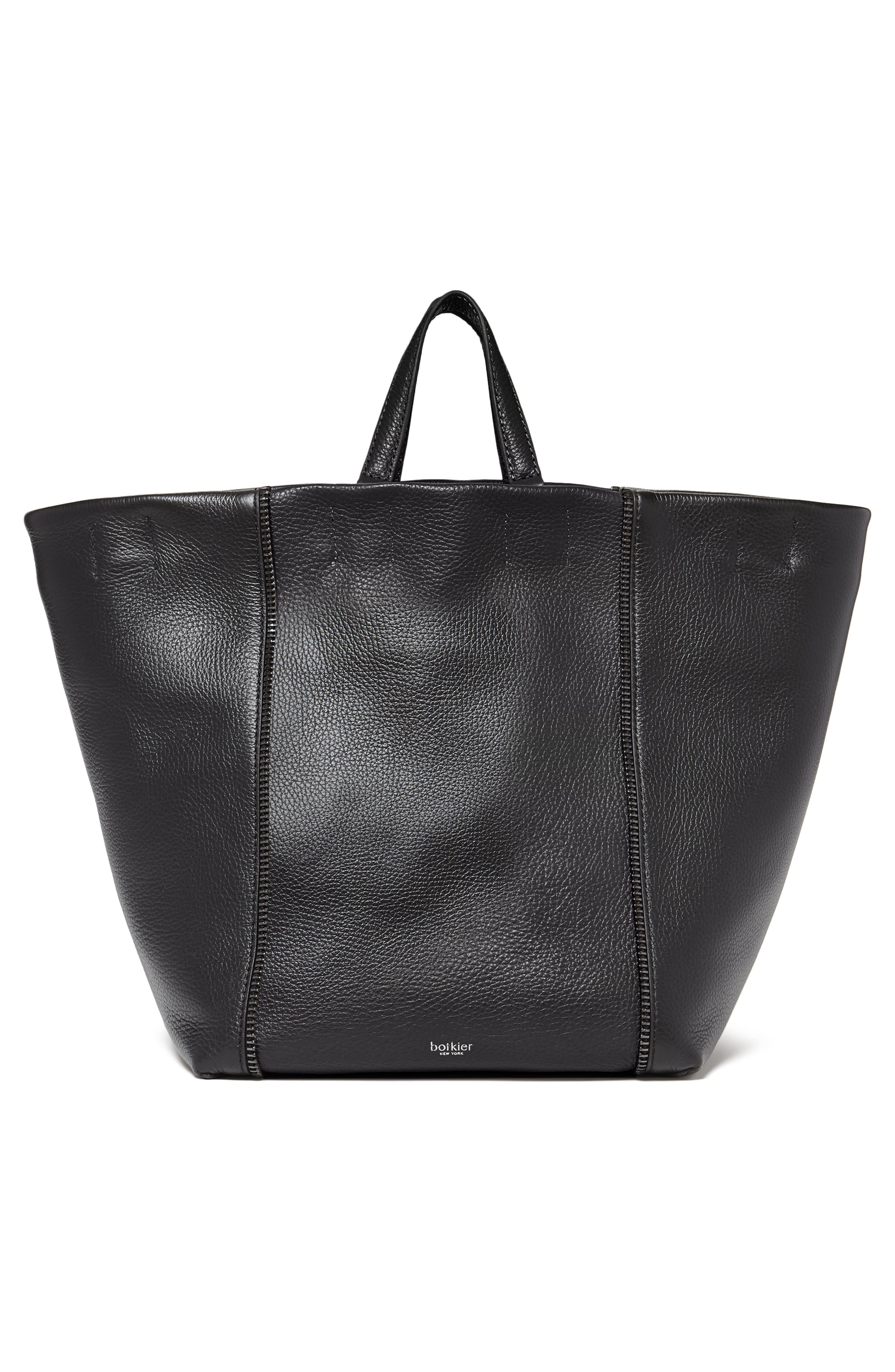 Larger Wooster Leather Tote,                             Alternate thumbnail 2, color,                             BLACK
