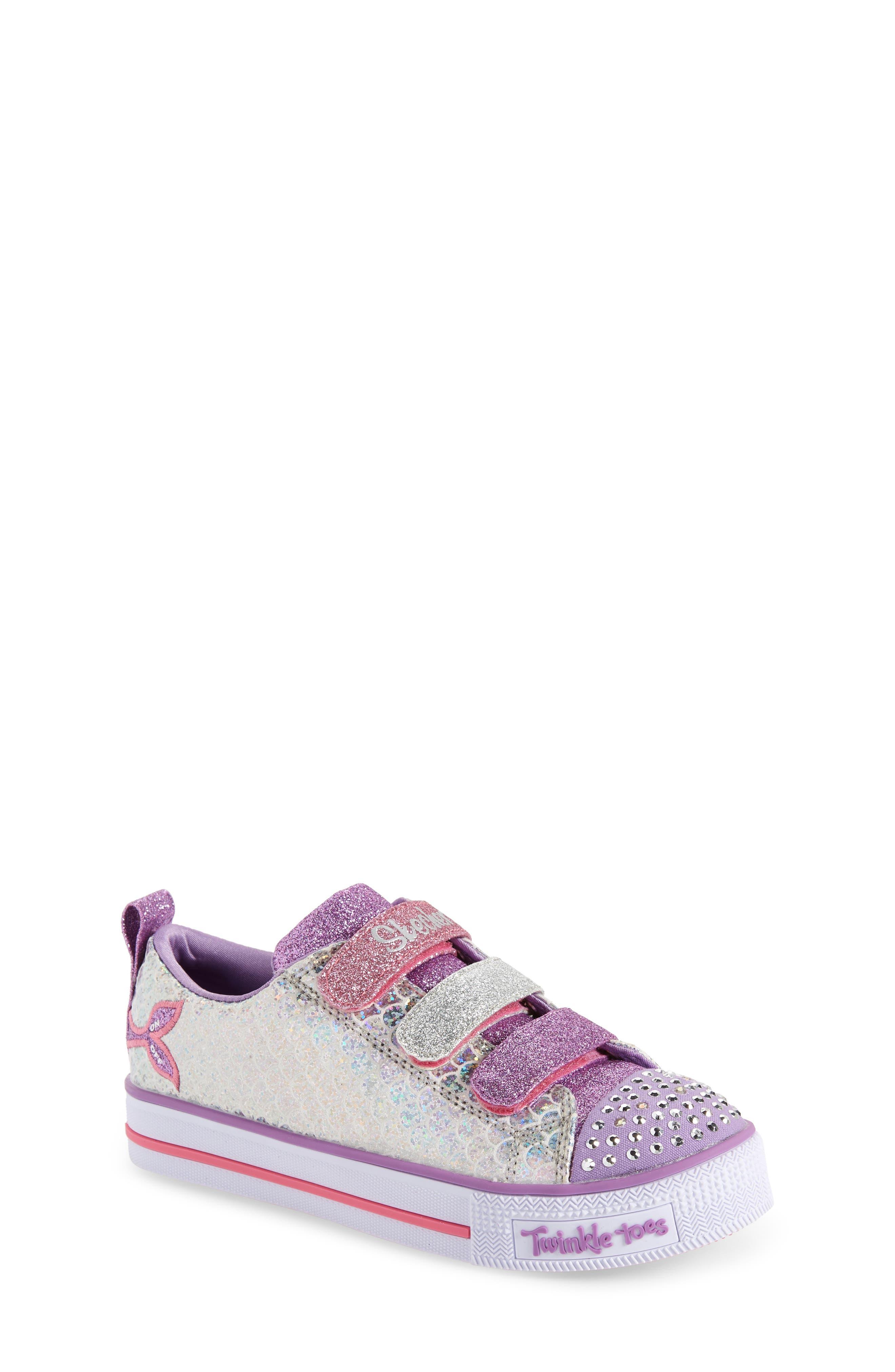 Toddler Girls Skechers Twinkle Lite Sneaker Size 11 M  Metallic