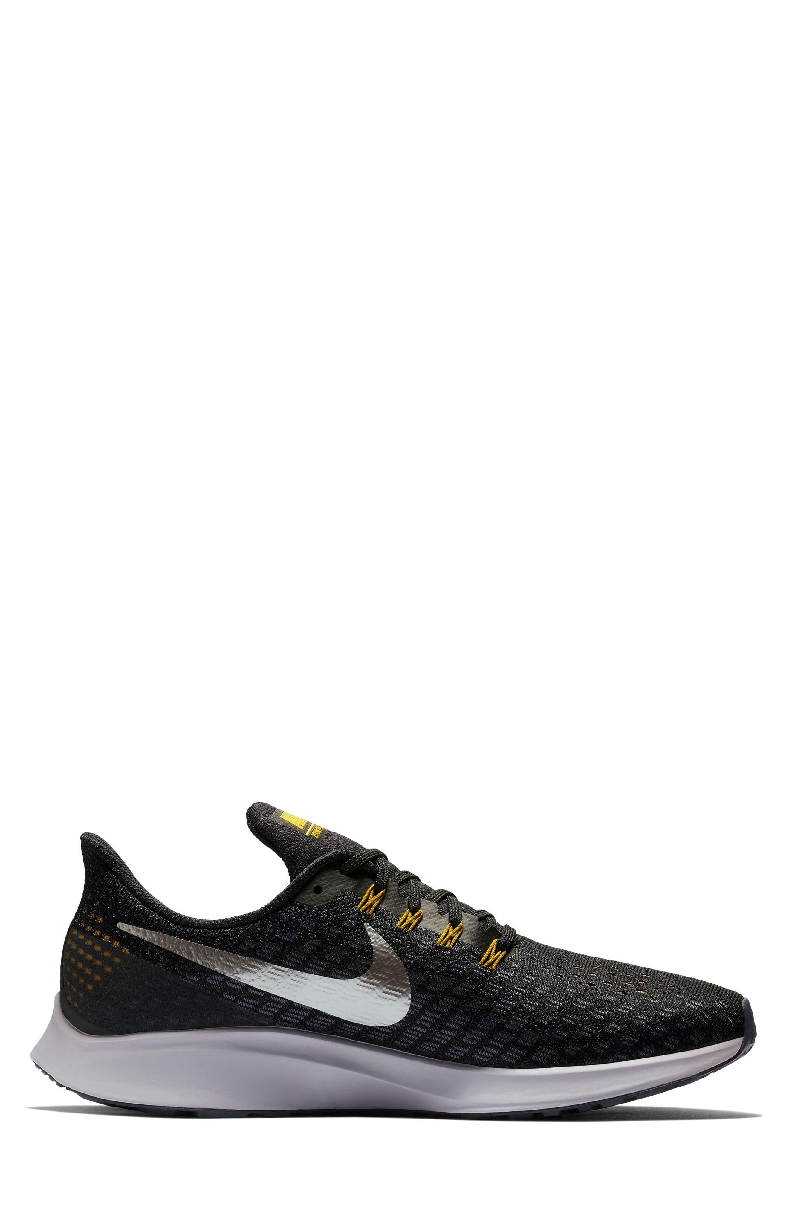 Air Zoom Pegasus 35 Running Shoe,                             Alternate thumbnail 2, color,                             BLACK/ PEWTER/ MOSS