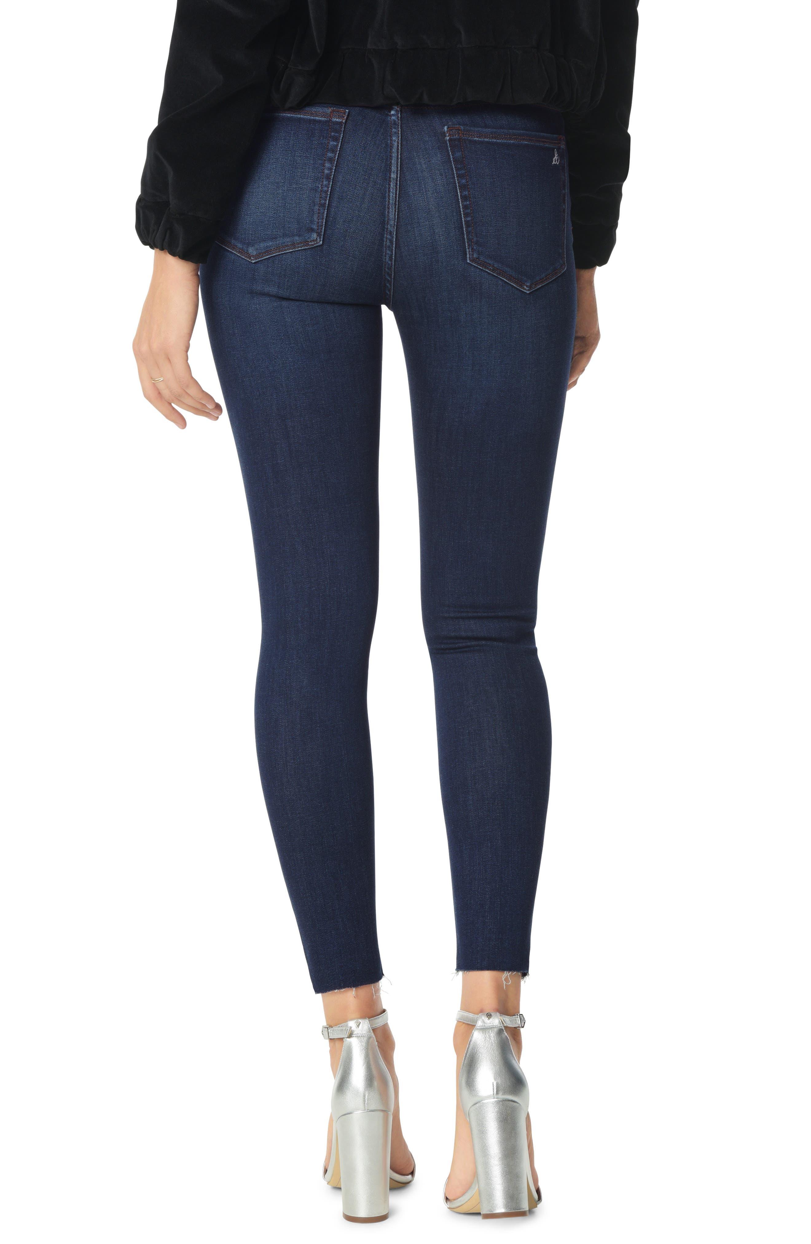 The Stiletto Angled Raw Hem Ankle Skinny Jeans,                             Alternate thumbnail 2, color,                             BABZ