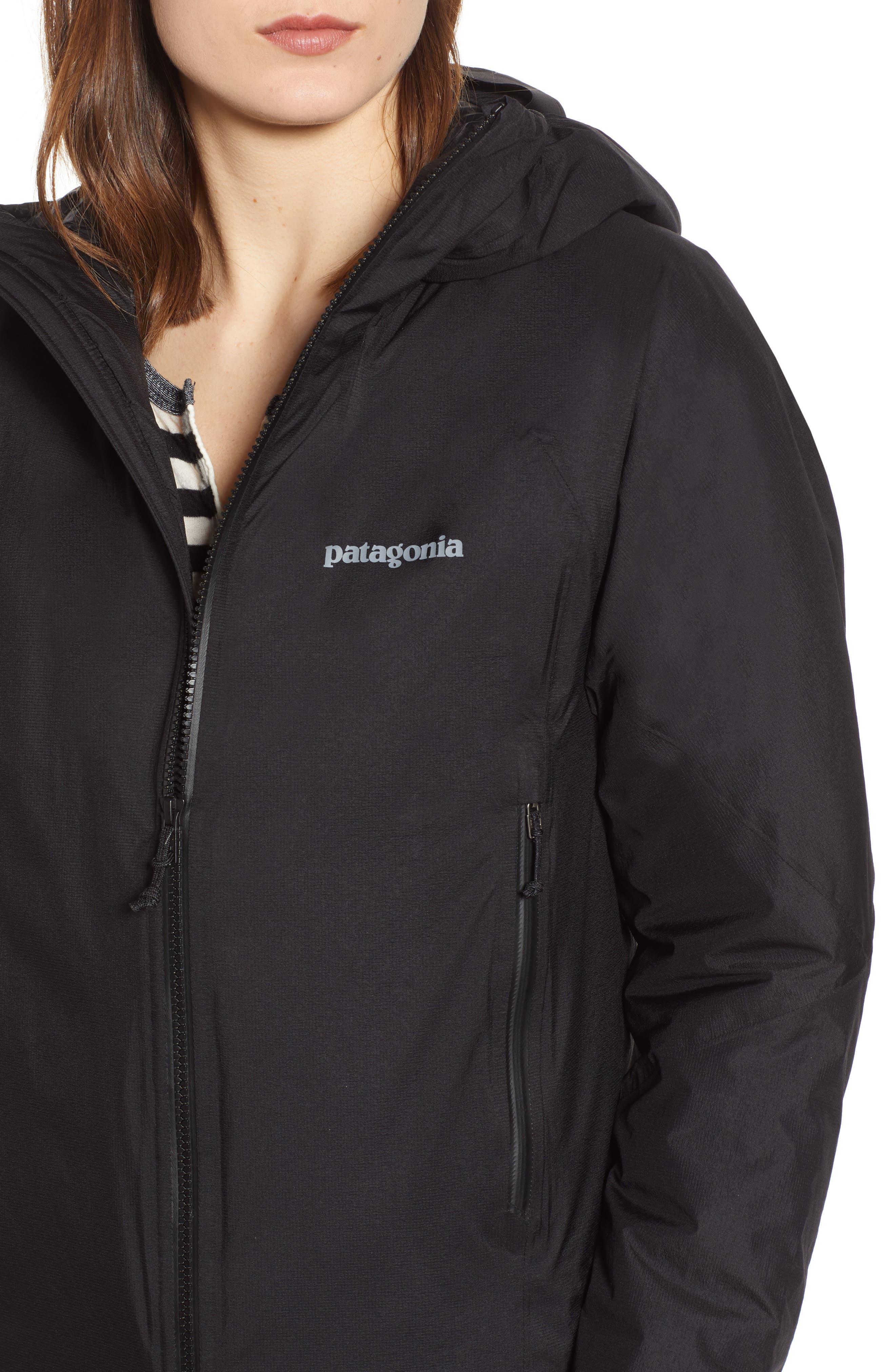 Micro Puff<sup>®</sup> Waterproof Storm Jacket,                             Alternate thumbnail 4, color,                             BLACK