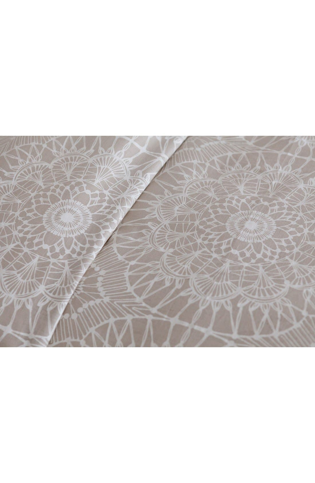 'Lace Medallion' Duvet Cover,                             Alternate thumbnail 4, color,                             250