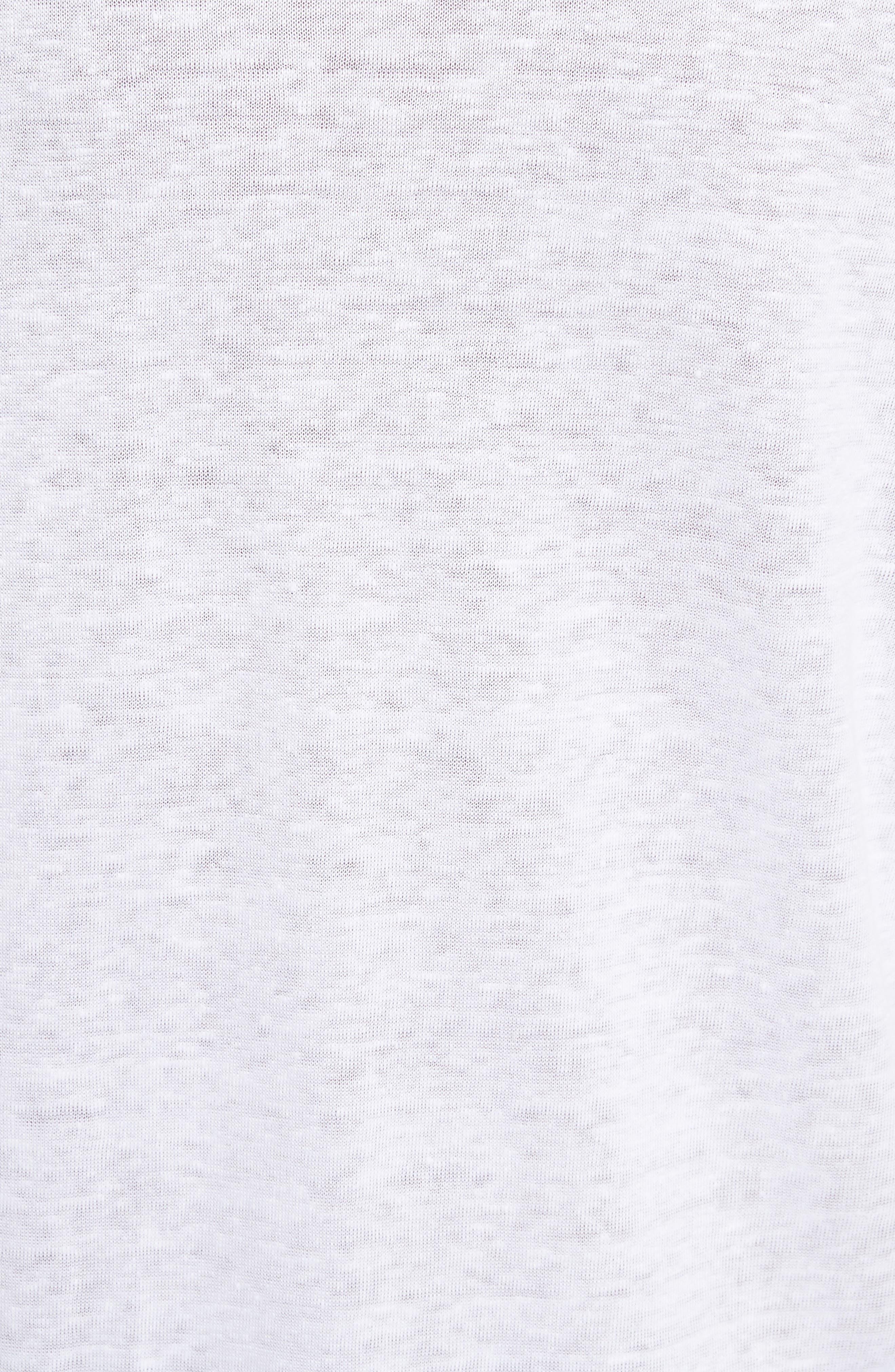 Ruffle Cuff Linen Top,                             Alternate thumbnail 10, color,