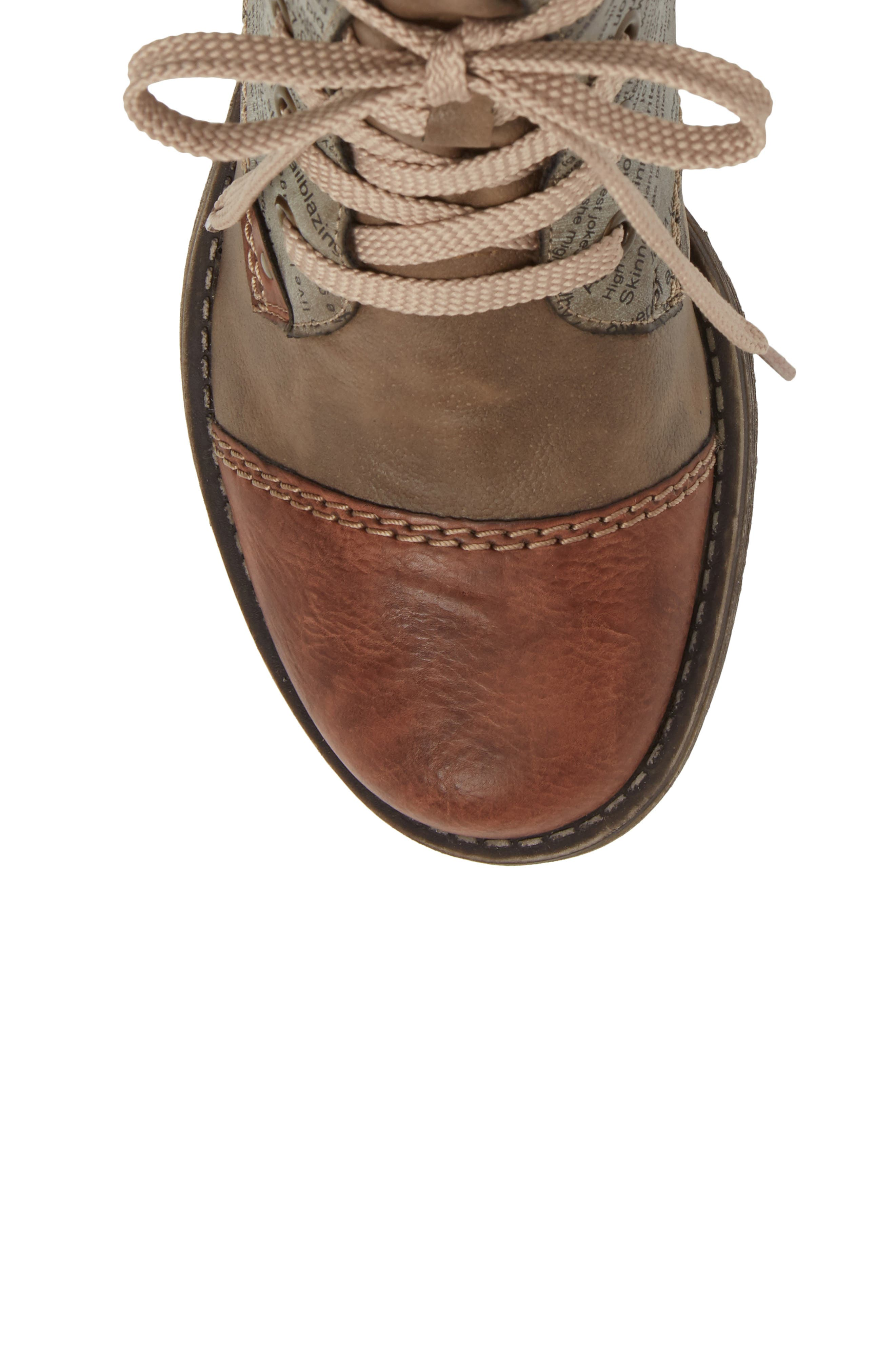 Payton 22 Lace-Up Boot,                             Alternate thumbnail 5, color,                             BRANDY/ CIGAR FAUX LEATHER
