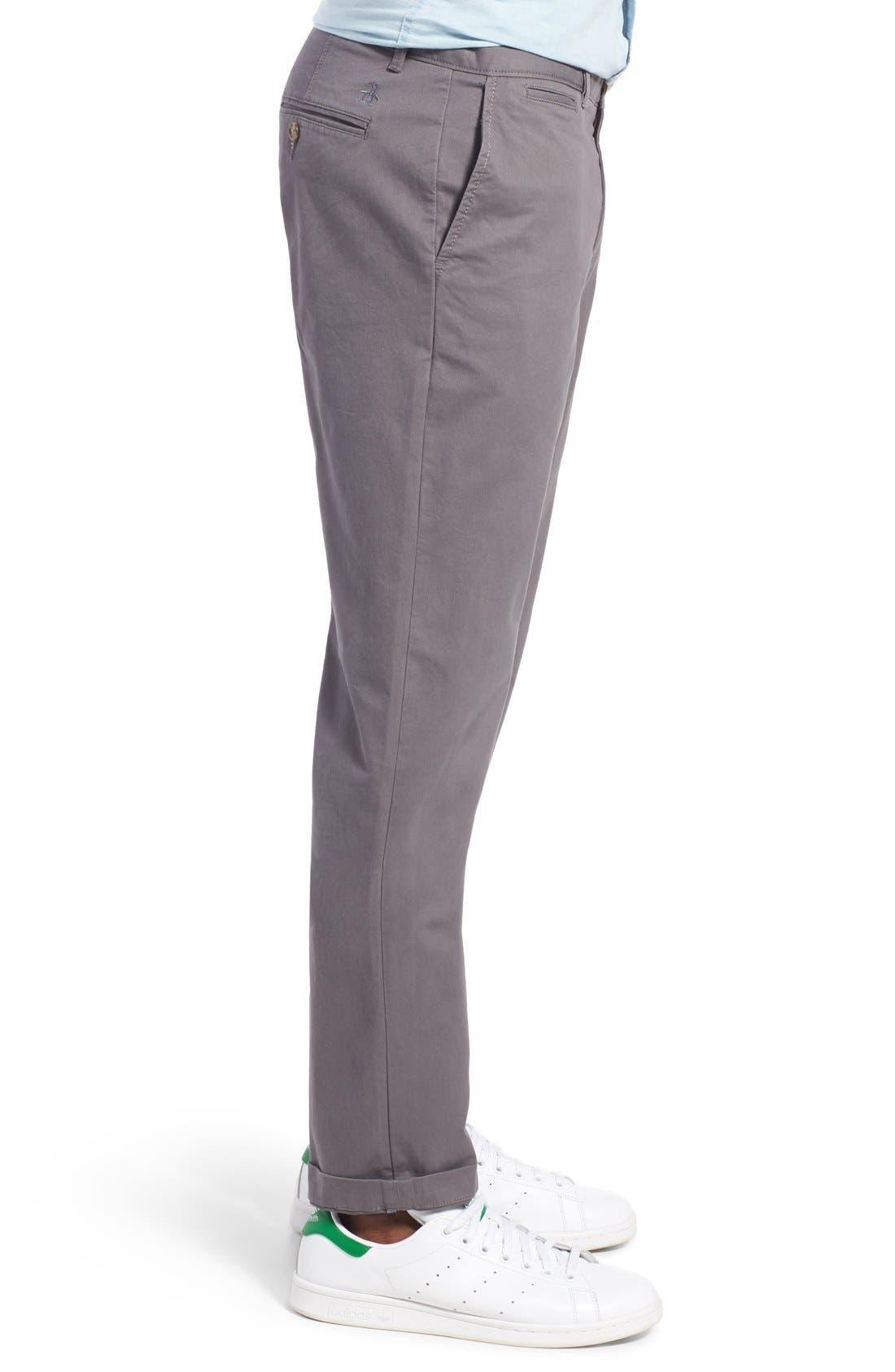 'P55' Slim Fit Stretch Cotton Chinos,                             Alternate thumbnail 3, color,                             CASTLEROCK
